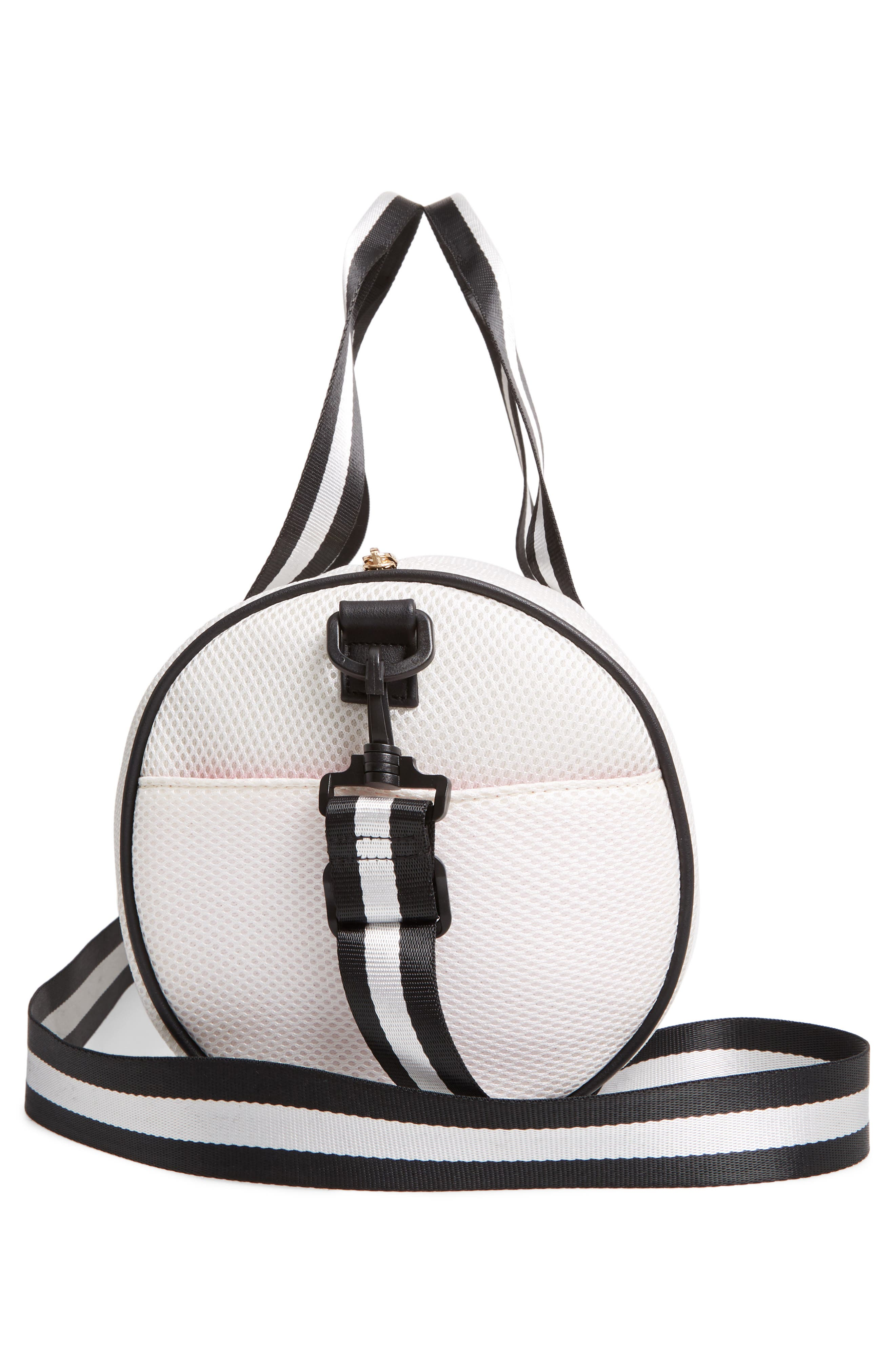 YOKI BAGS, Mesh Duffle Bag, Alternate thumbnail 5, color, WHITE MULTI