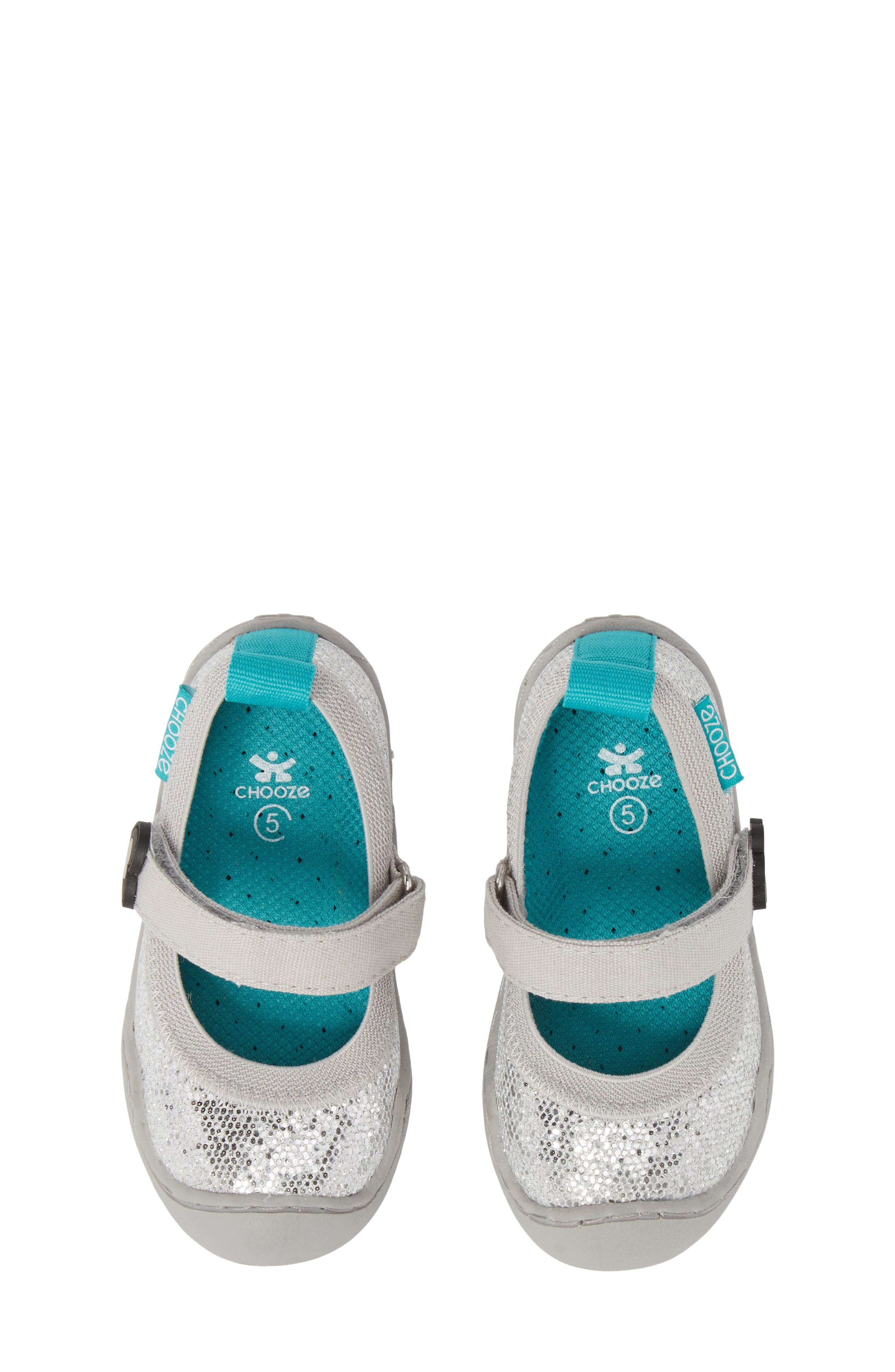 CHOOZE, Steady Shimmer Mary Jane Sneaker, Main thumbnail 1, color, GLOW PLATINUM