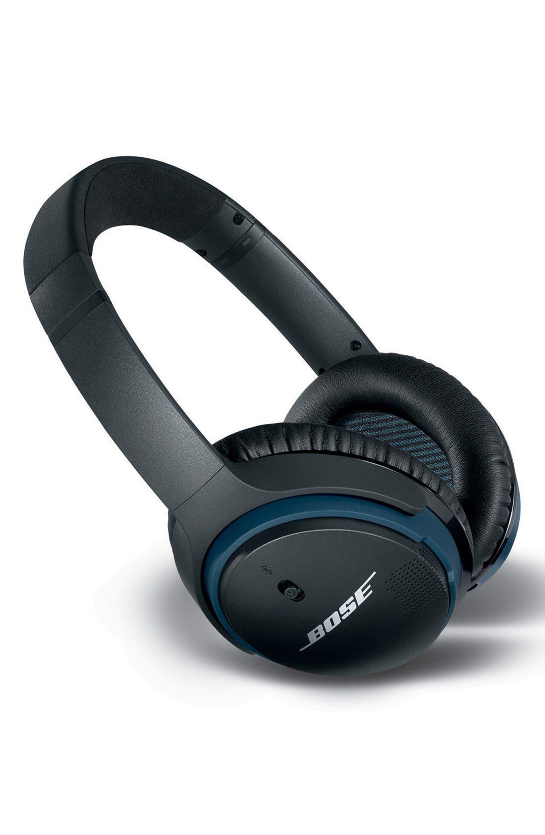 BOSE<SUP>®</SUP>, SoundLink<sup>®</sup> Around-Ear Bluetooth<sup>®</sup> Headphones, Alternate thumbnail 2, color, BLACK