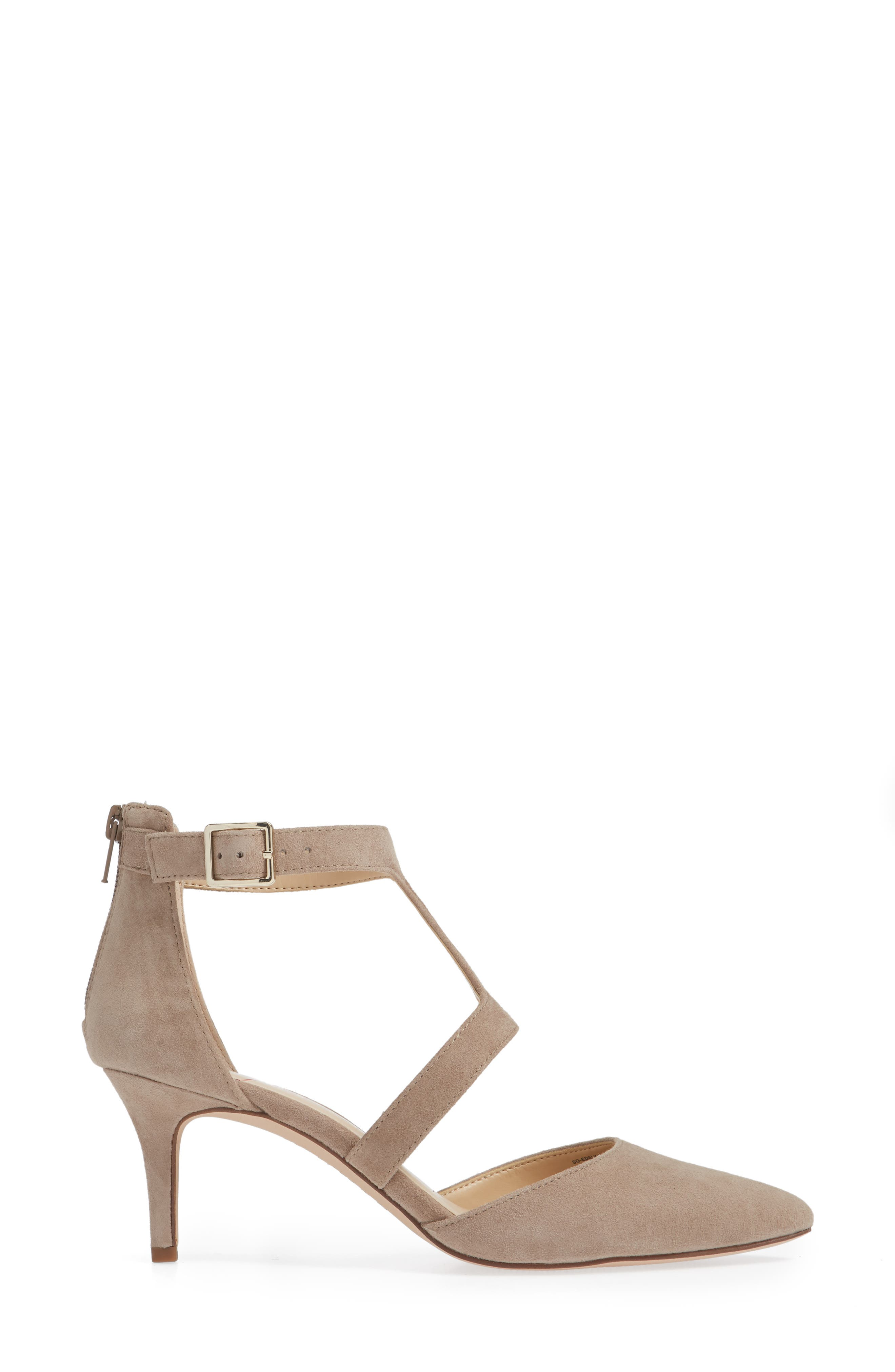 SOLE SOCIETY, Edelyn Pump, Alternate thumbnail 3, color, FALL TAUPE SUEDE