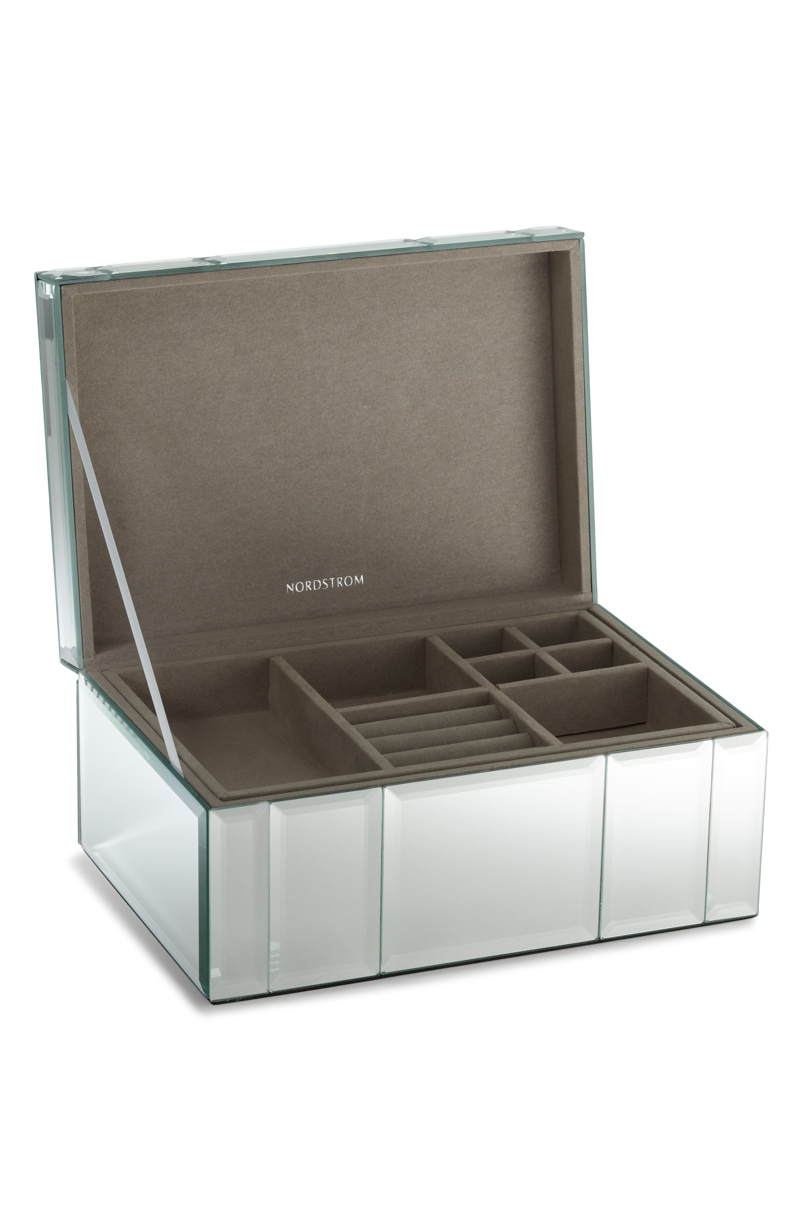 NORDSTROM, Medium Mirrored Jewelry Box, Alternate thumbnail 2, color, 040
