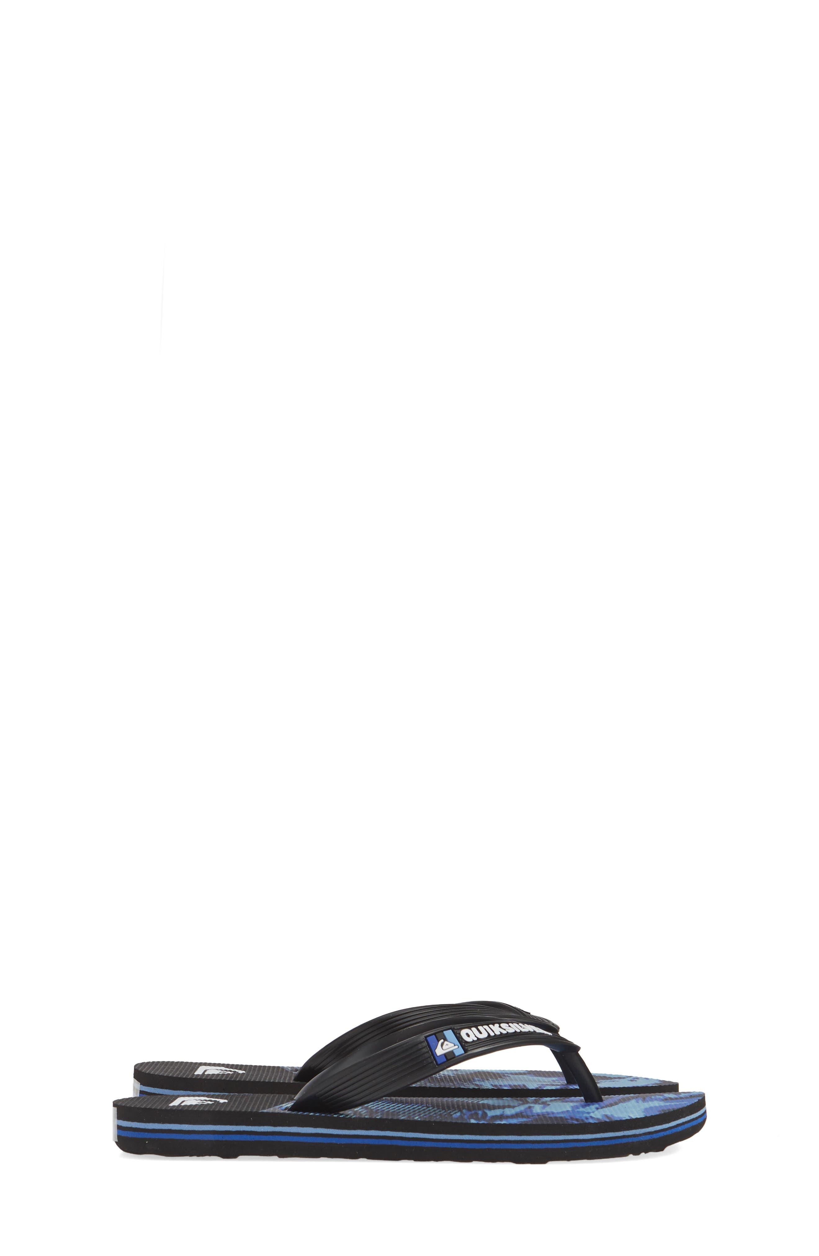 QUIKSILVER, Molokai Night Marcher Flip Flop, Alternate thumbnail 4, color, 006