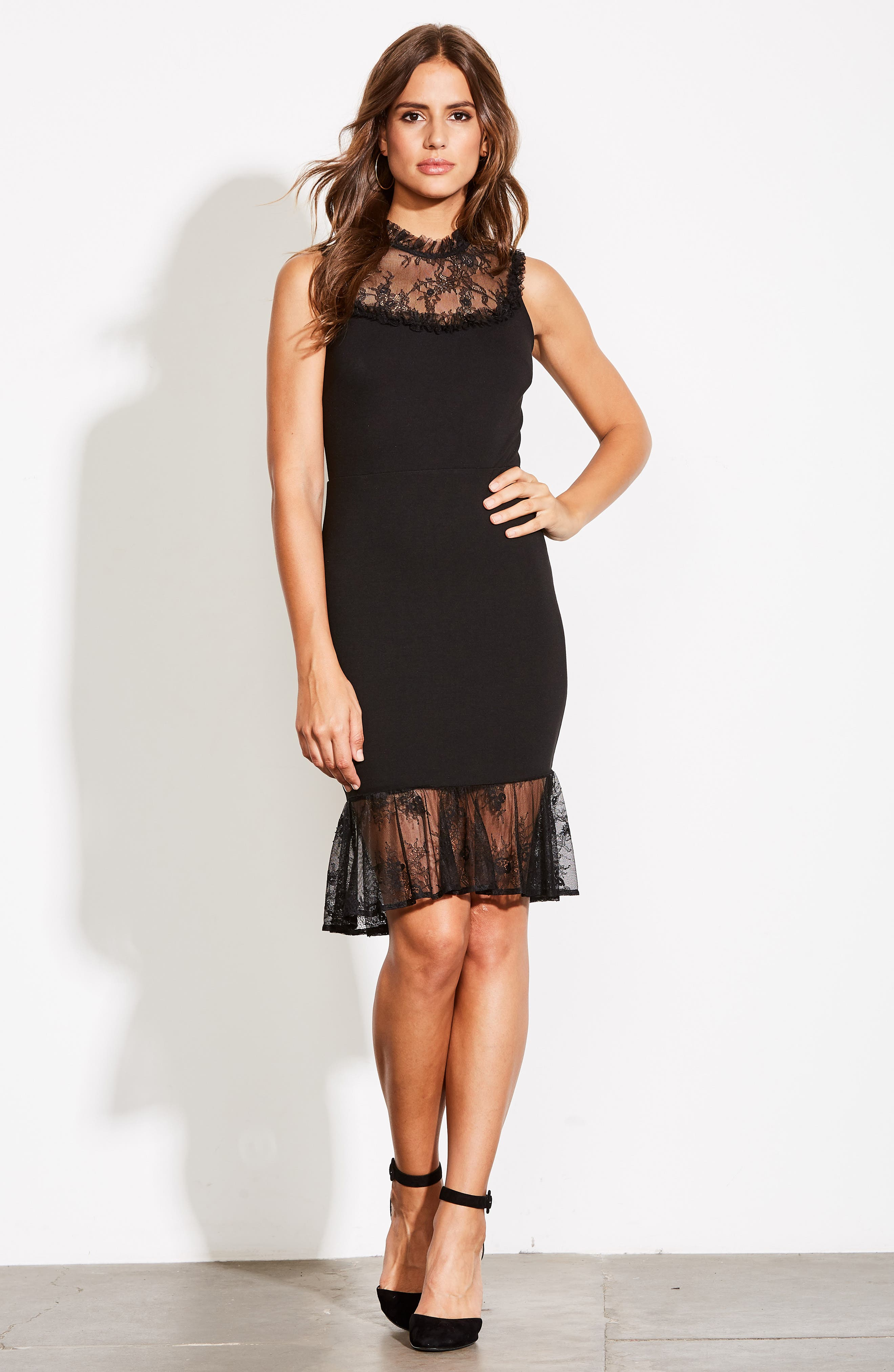 ALI & JAY, Two to Tango Lace Detail Dress, Alternate thumbnail 8, color, 001