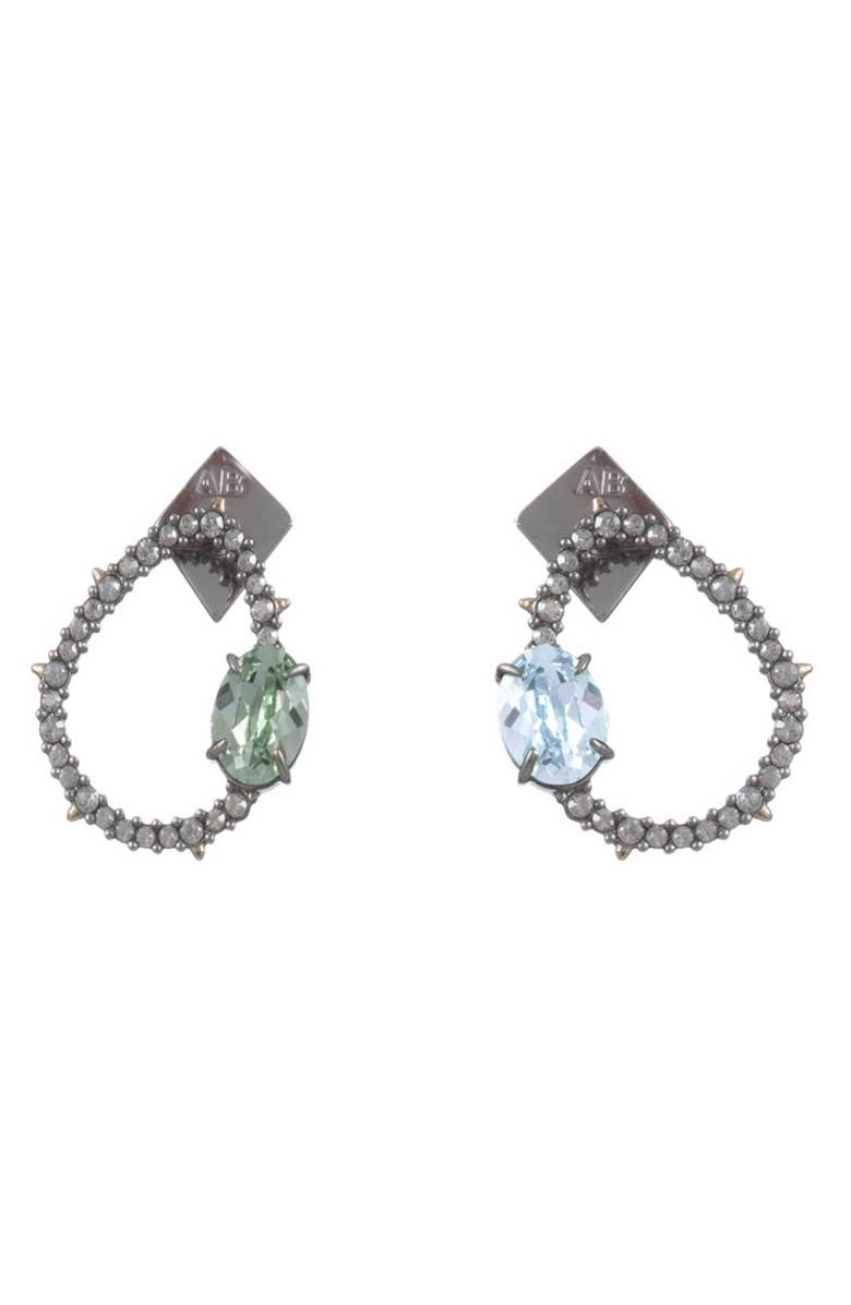 Alexis Bittar Accessories MISMATCHED CRYSTAL EARRINGS