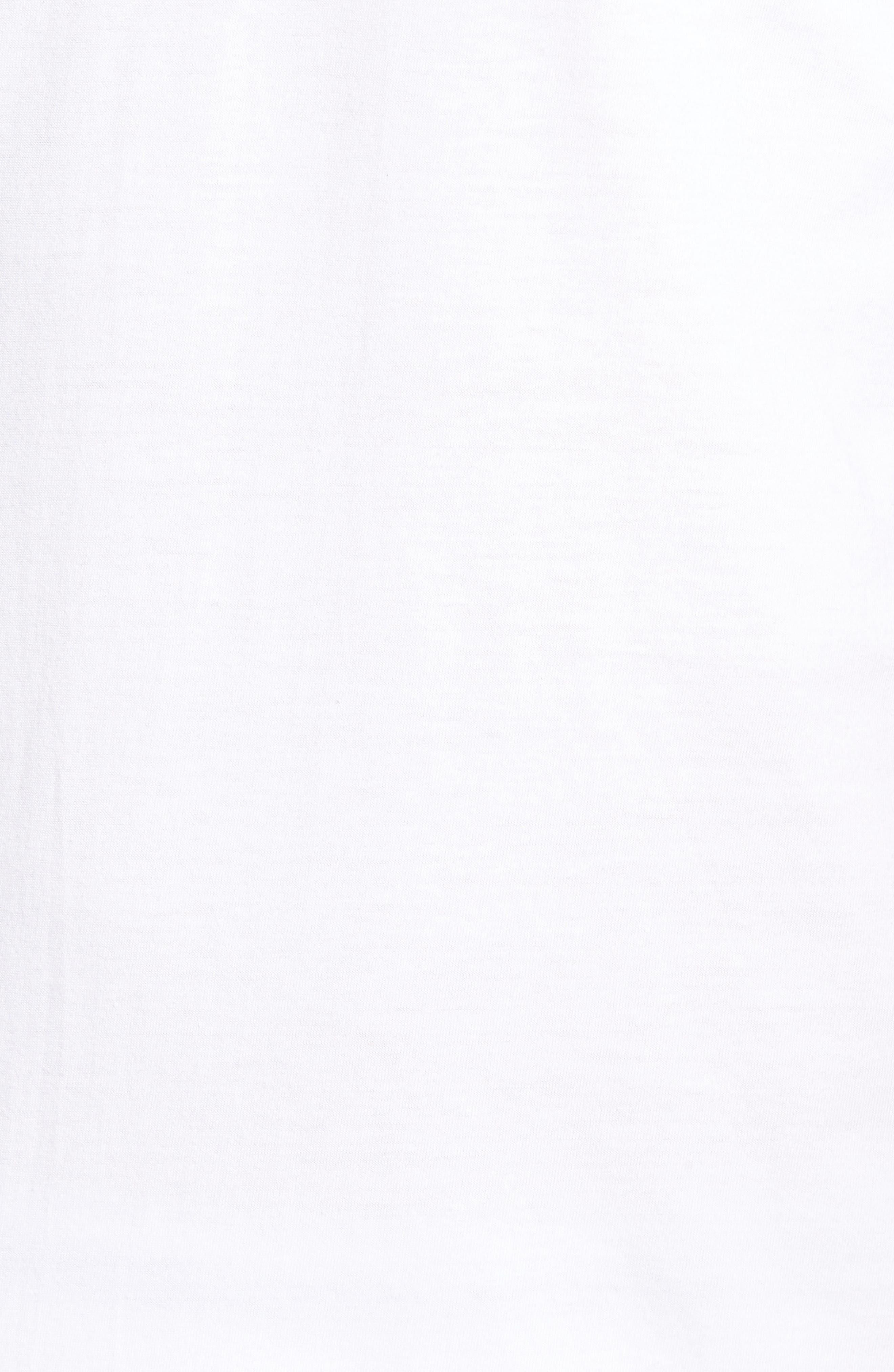 NORDSTROM MEN'S SHOP, 4-Pack Regular Fit Supima<sup>®</sup> Cotton V-Neck T-Shirts, Alternate thumbnail 5, color, WHITE