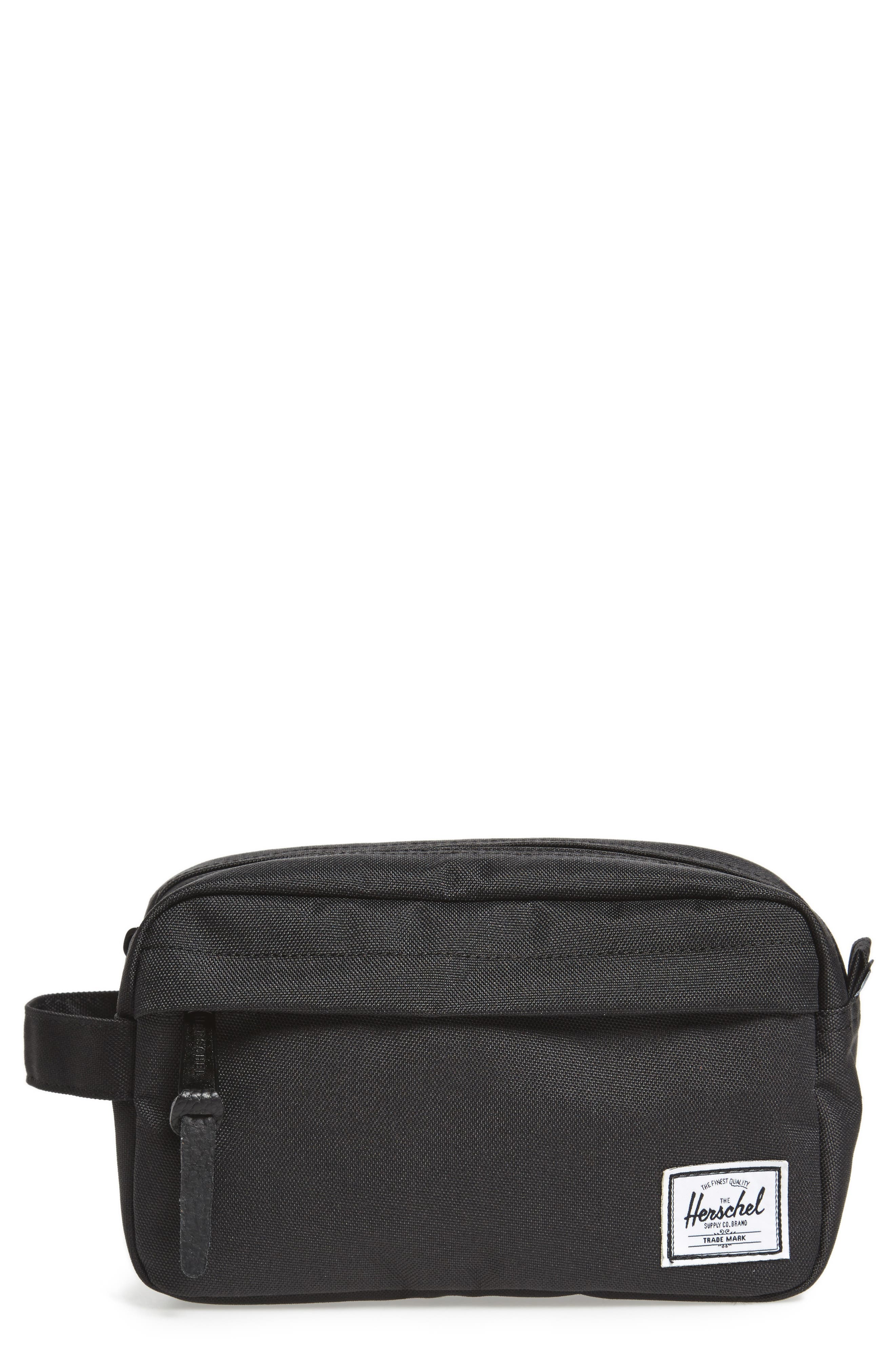 HERSCHEL SUPPLY CO. Chapter Carry-On Dopp Kit, Main, color, BLACK