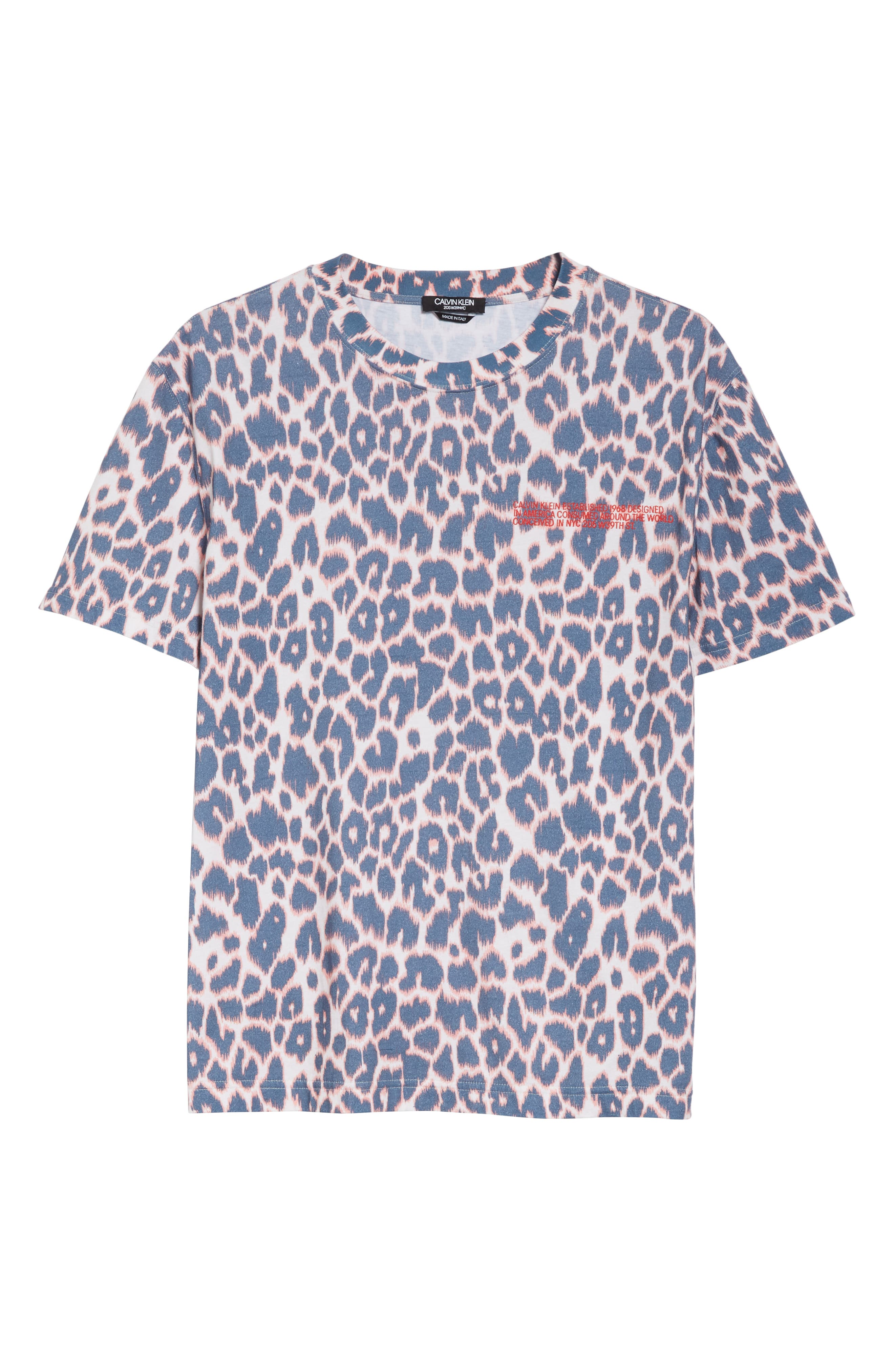 CALVIN KLEIN 205W39NYC, Electric Panther Print T-Shirt, Alternate thumbnail 6, color, ELECTRIC PANTHERE