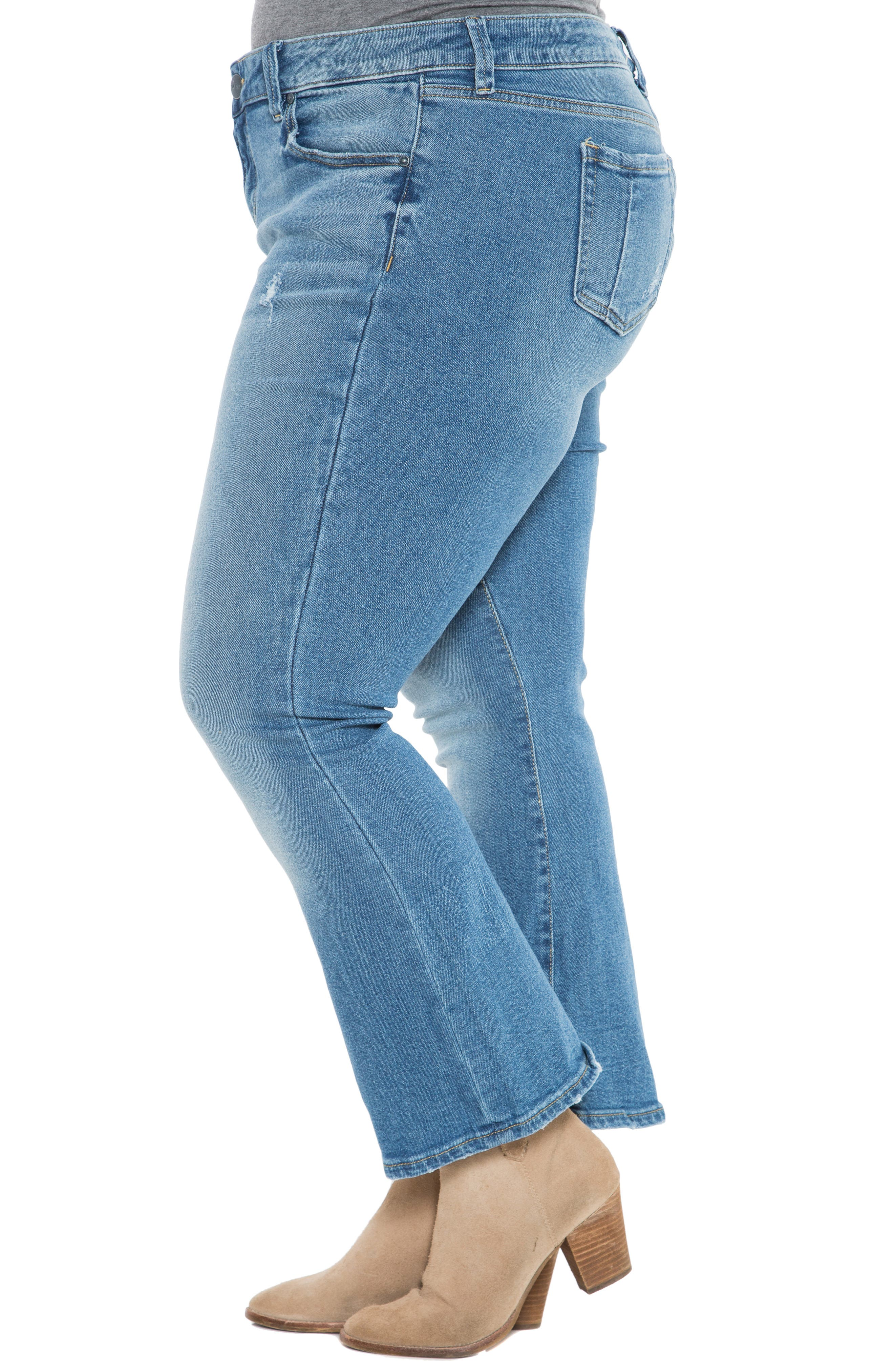 SLINK JEANS, Crop Flare Jeans, Alternate thumbnail 3, color, PATTI