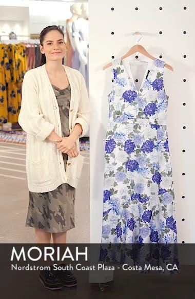 Vintage Floral Midi Dress, sales video thumbnail