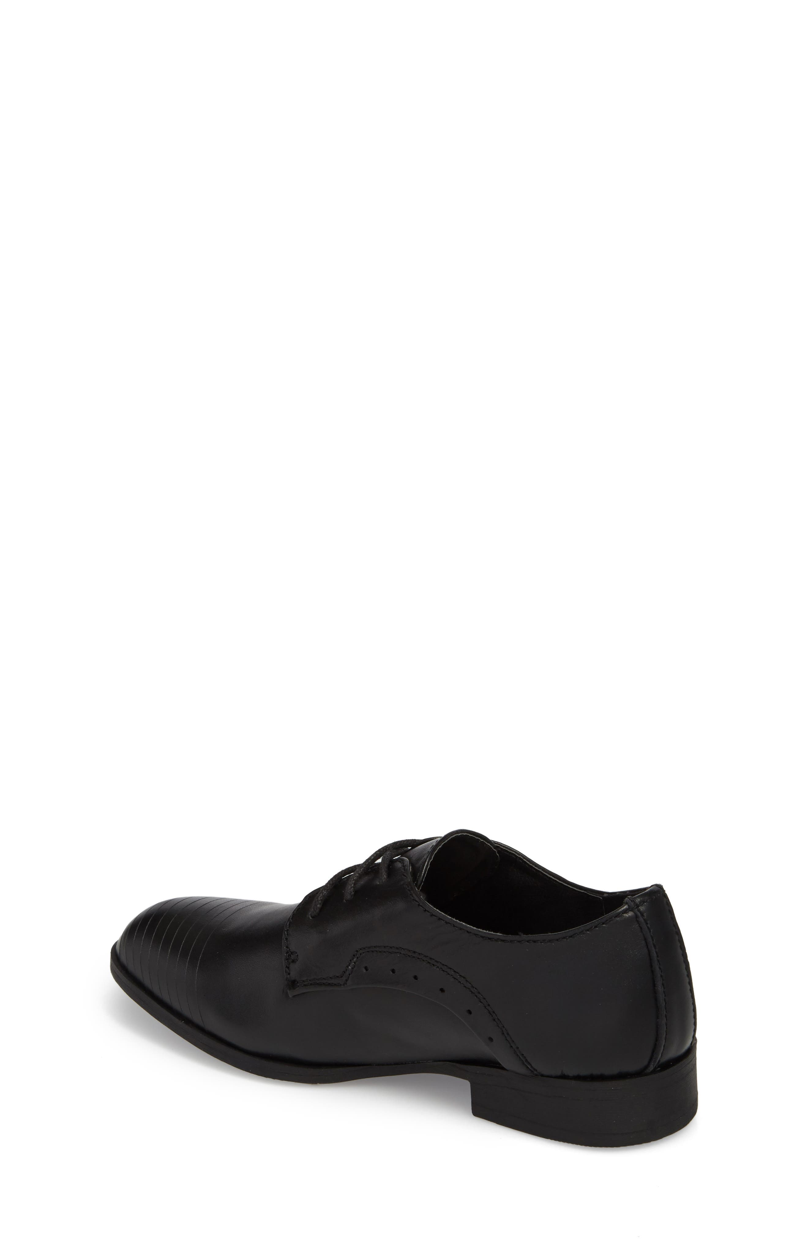 REACTION KENNETH COLE, Straight Line Derby, Alternate thumbnail 2, color, BLACK