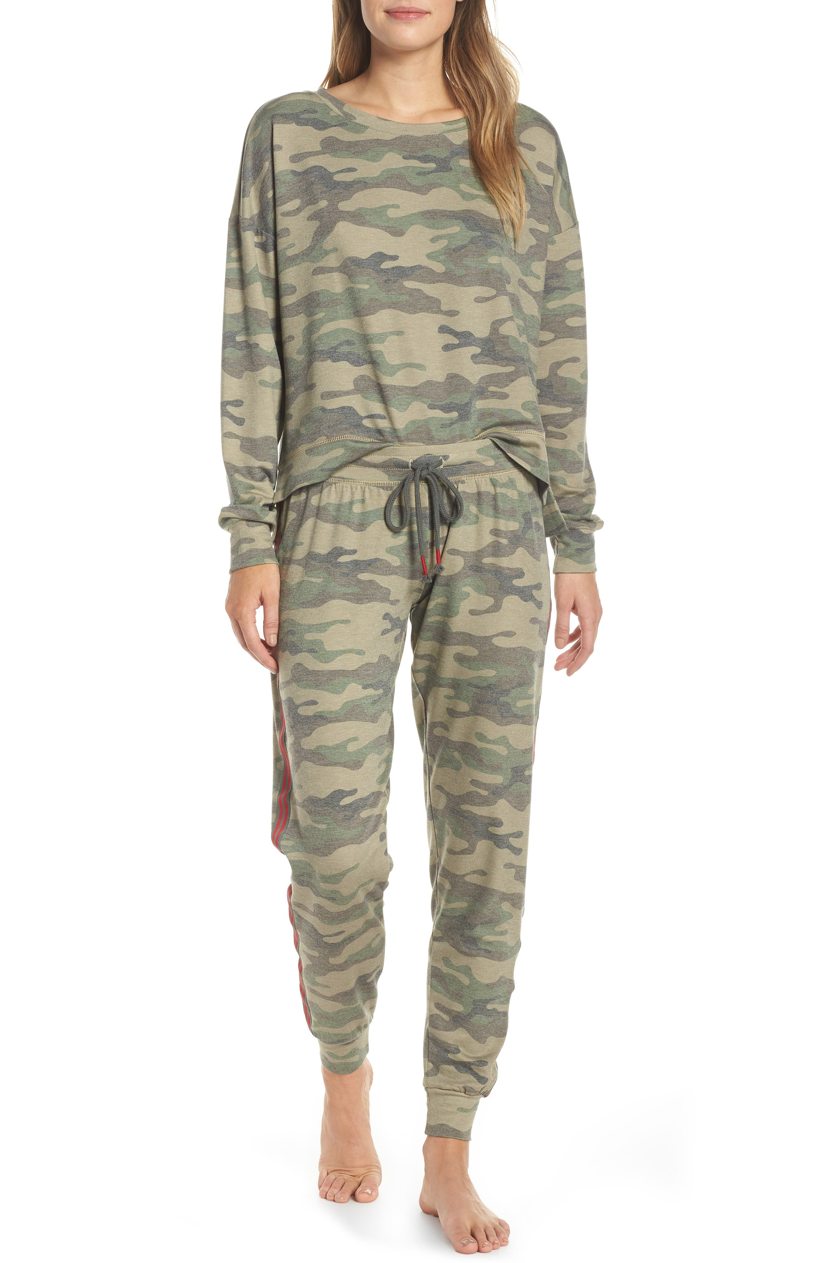 PJ SALVAGE, Sweatpants, Alternate thumbnail 7, color, 318