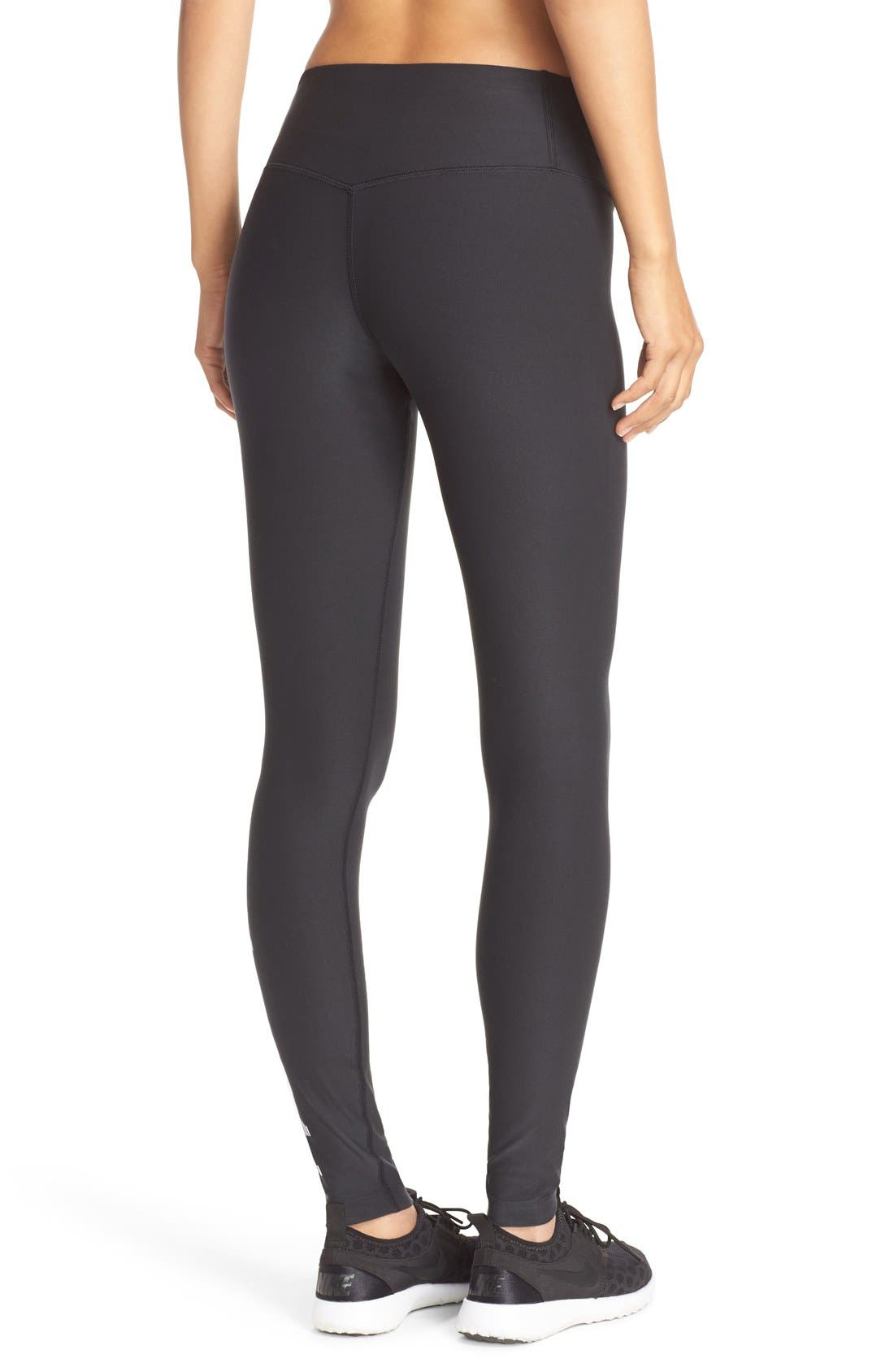 NIKE, Power Legendary Graphic Tights, Alternate thumbnail 2, color, 010