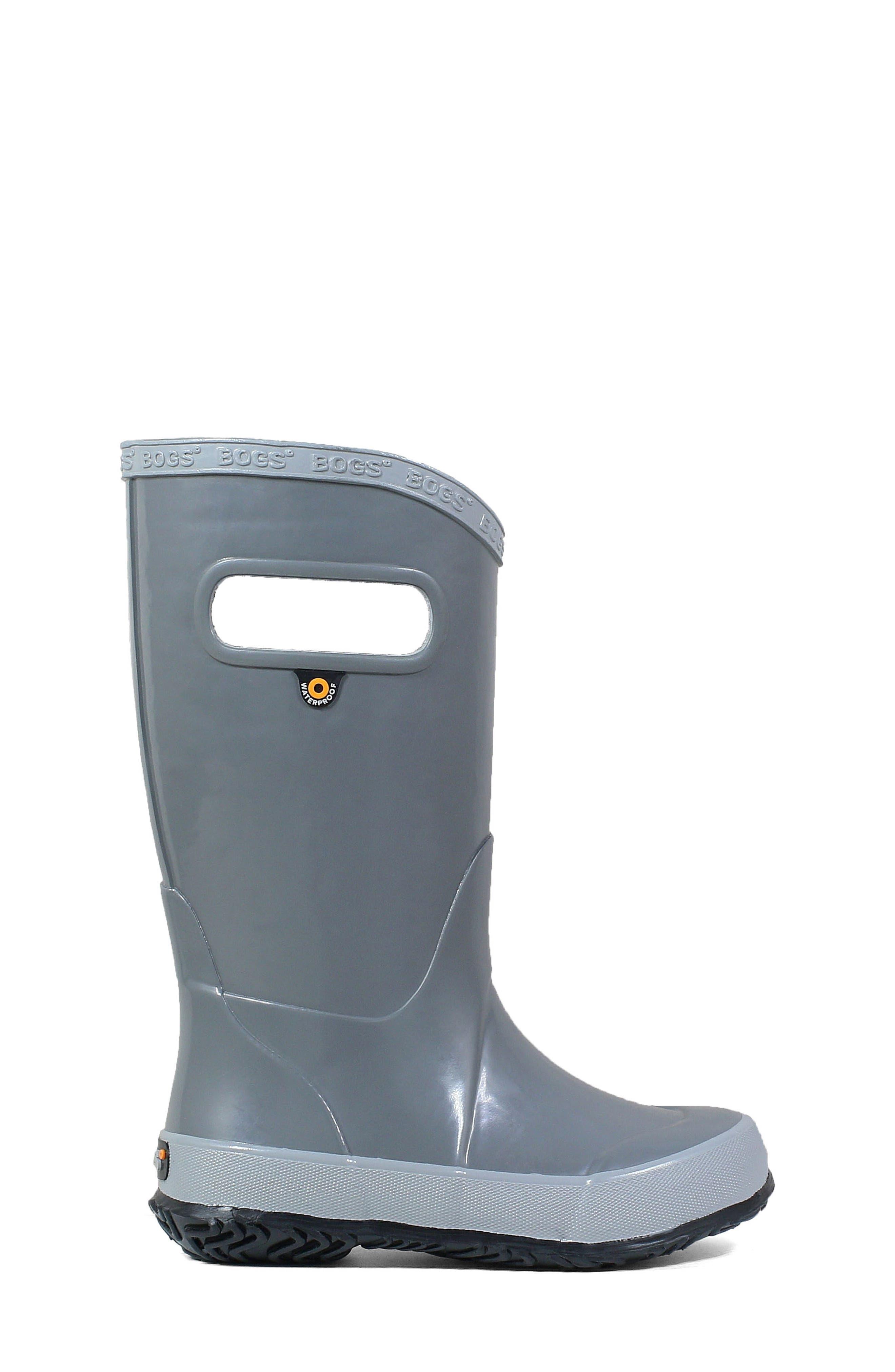 BOGS, Waterproof Rain Boot, Alternate thumbnail 3, color, 020
