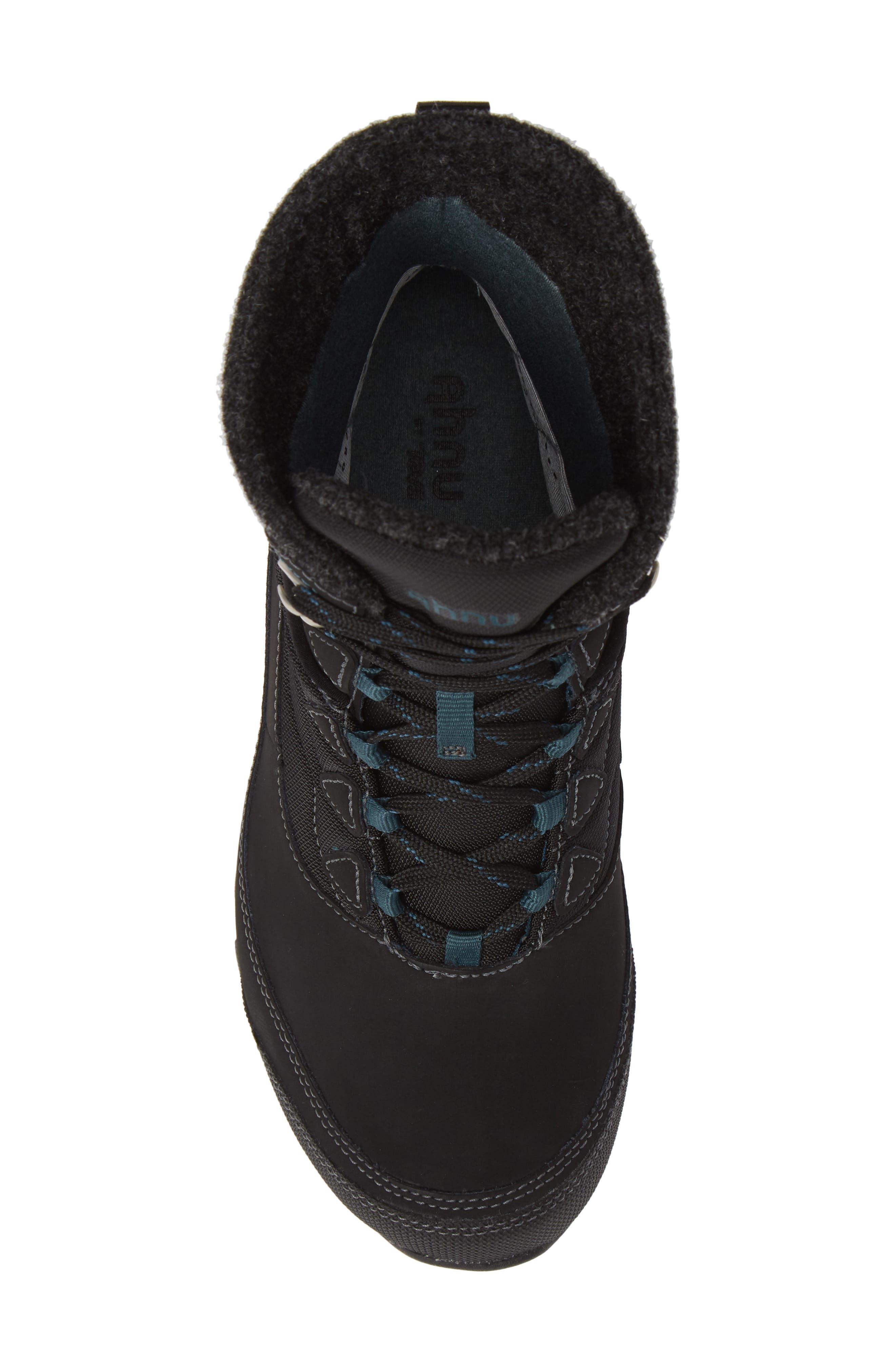 TEVA, Ahnu by Teva Sugarfrost Insulated Waterproof Boot, Alternate thumbnail 5, color, BLACK LEATHER