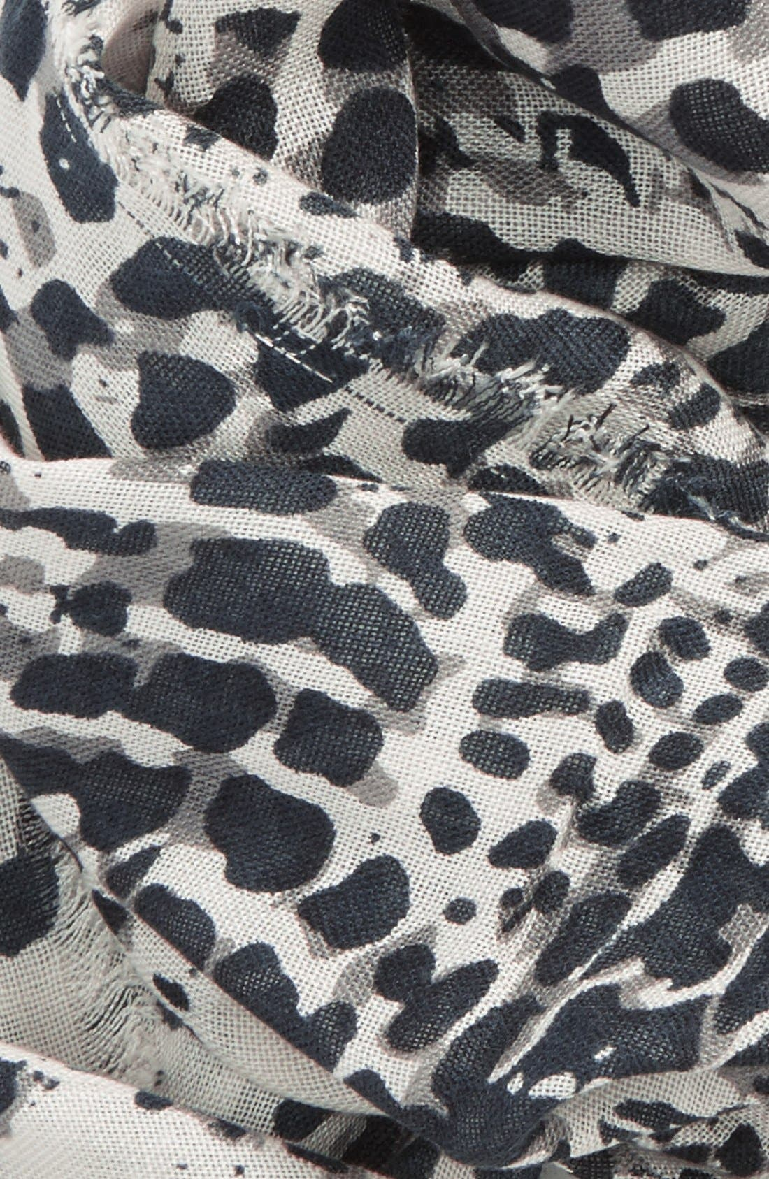 BP., 'Ink Blot' Infinity Scarf, Alternate thumbnail 3, color, 001