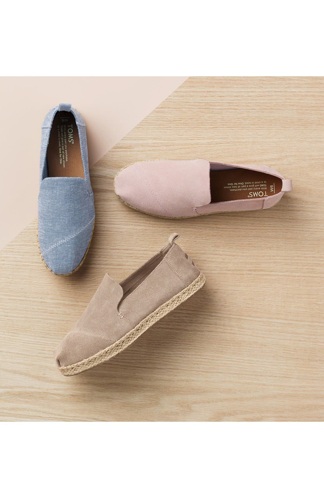 TOMS, Classic Espadrille Slip-On, Main thumbnail 1, color, NATURAL