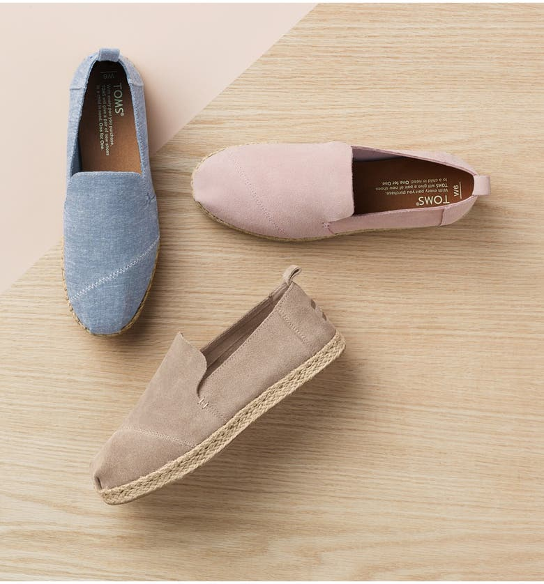 TOMS Classic Espadrille Slip-On, Main, color, NATURAL