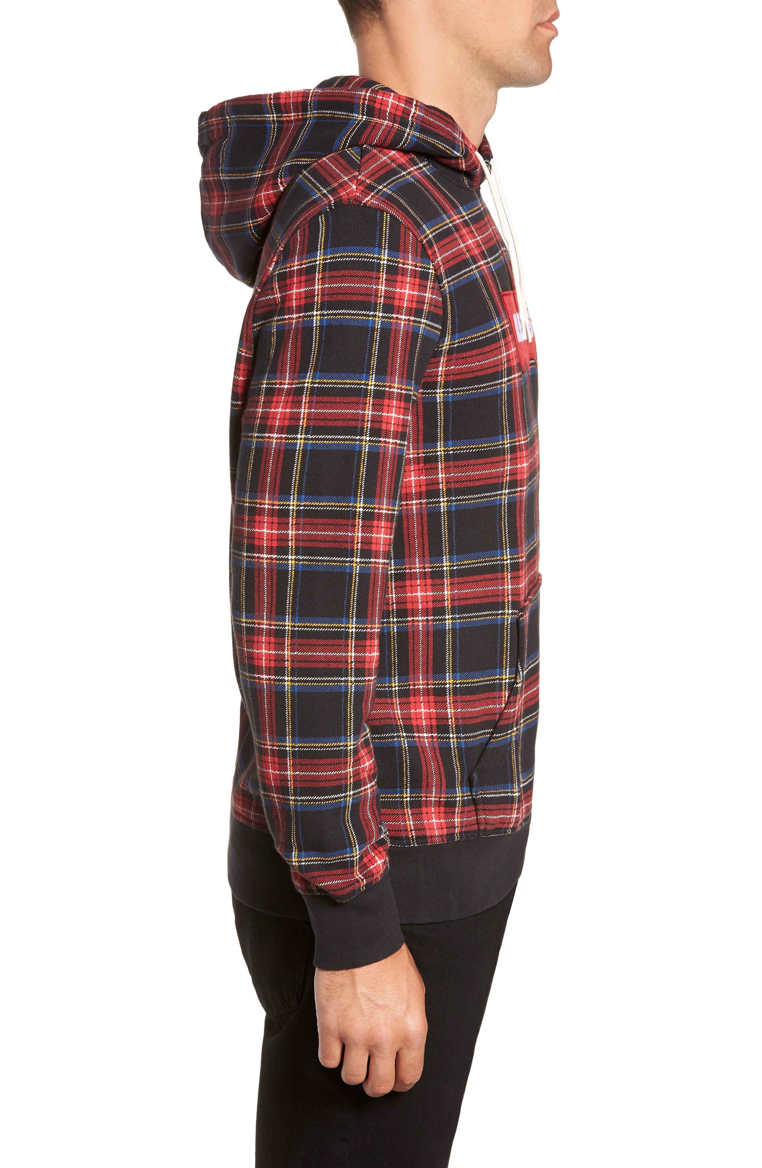 LEVI'S<SUP>®</SUP>, Modern Hoodie Sweatshirt, Alternate thumbnail 3, color, PLAID