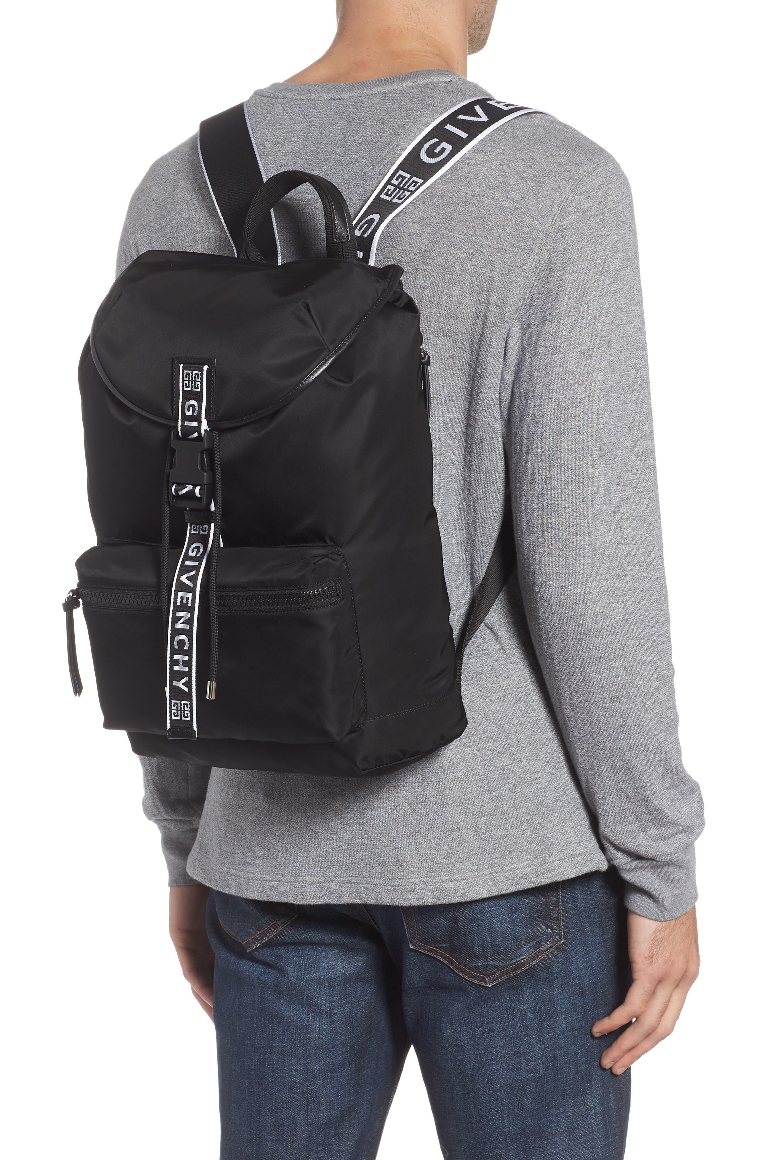 GIVENCHY, Light 3 Backpack, Alternate thumbnail 2, color, BLACK/ WHITE