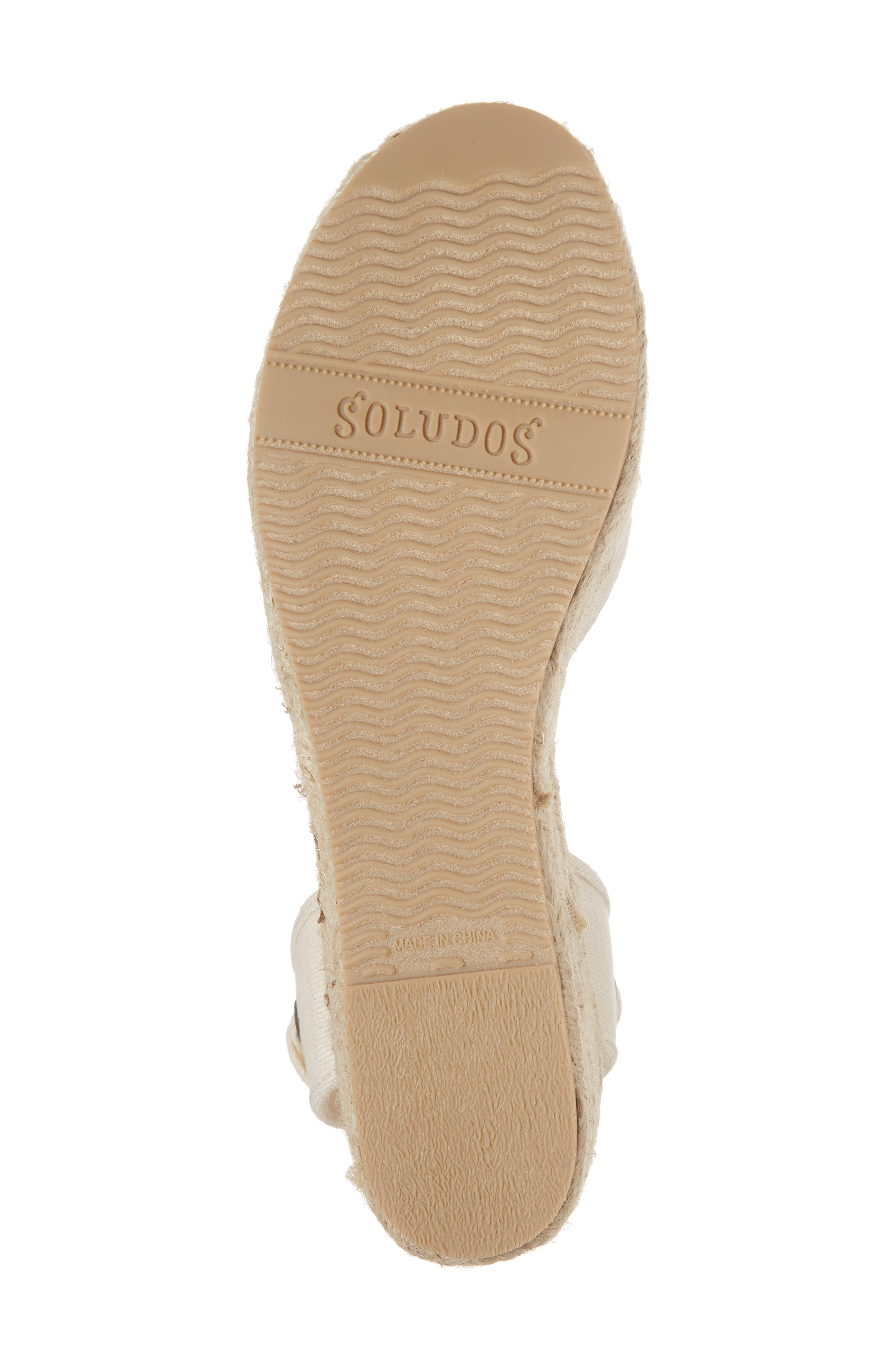 SOLUDOS, Espadrille Platform Sandal, Alternate thumbnail 6, color, BLUSH FABRIC