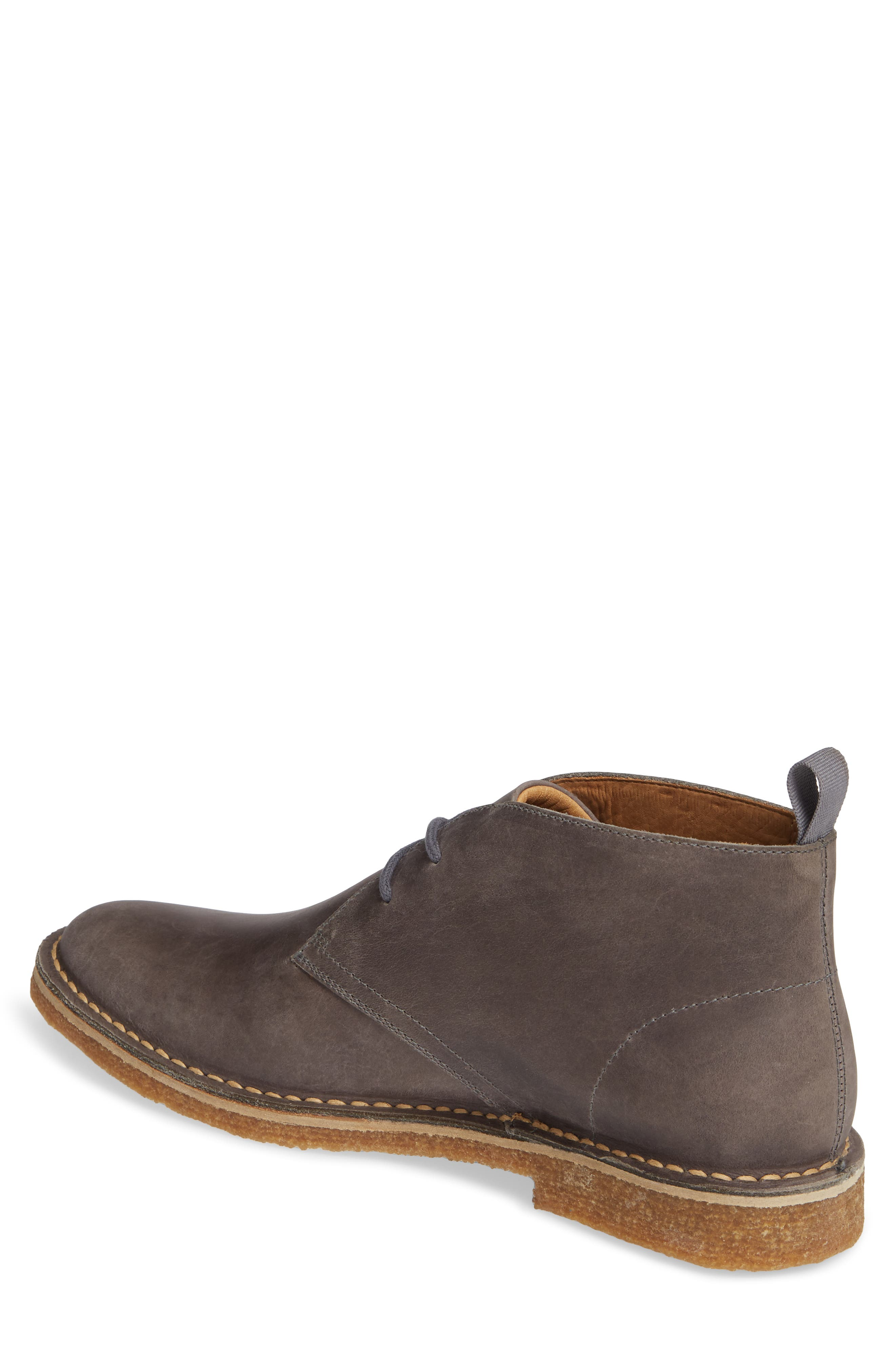 1901, Hudson Chukka Boot, Alternate thumbnail 2, color, GREY LEATHER