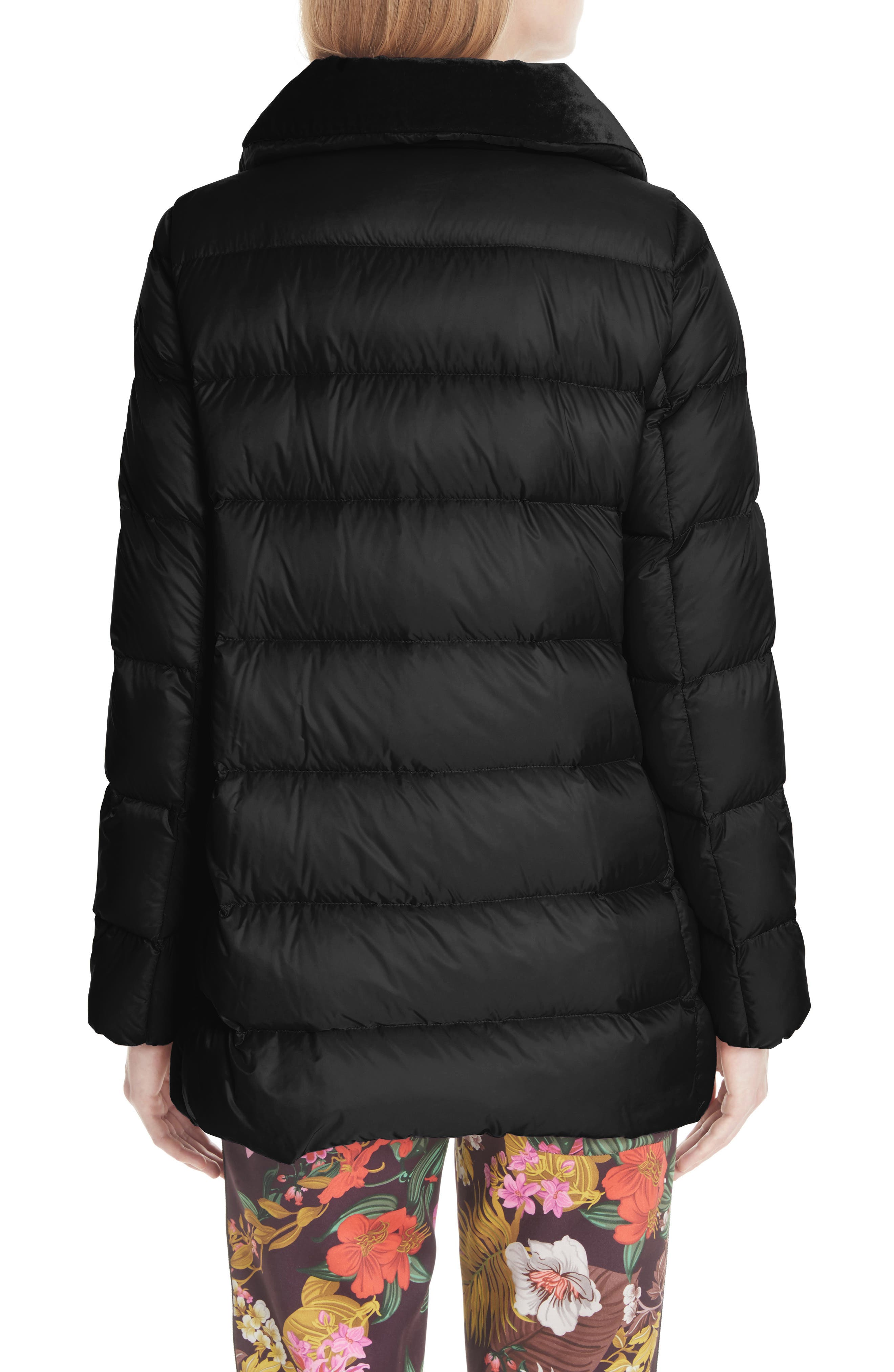 MONCLER, Torcol Quilted Down Jacket, Alternate thumbnail 2, color, BLACK