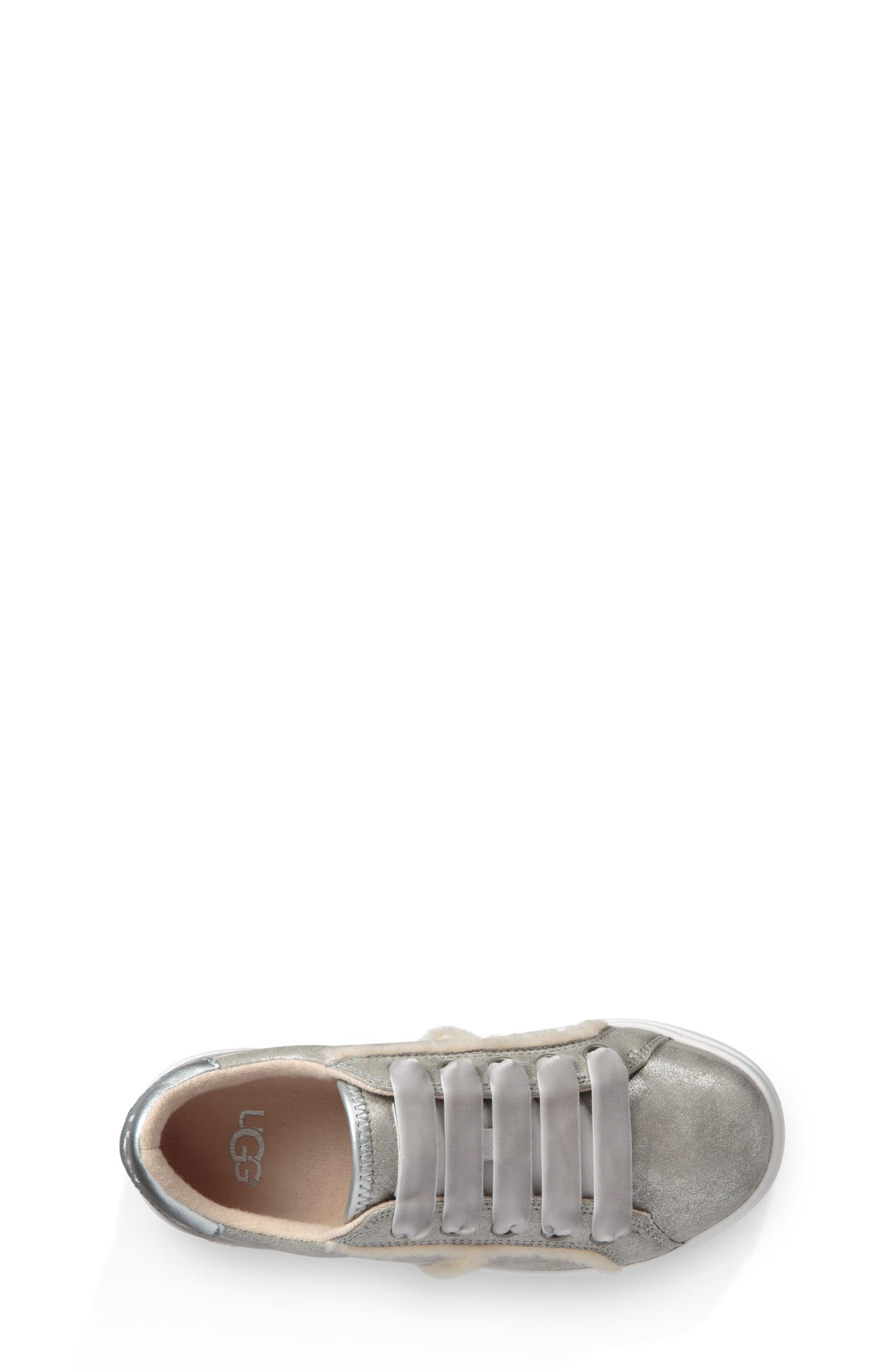 UGG<SUP>®</SUP>, Alanna Low Top Sneaker, Alternate thumbnail 3, color, SILVER