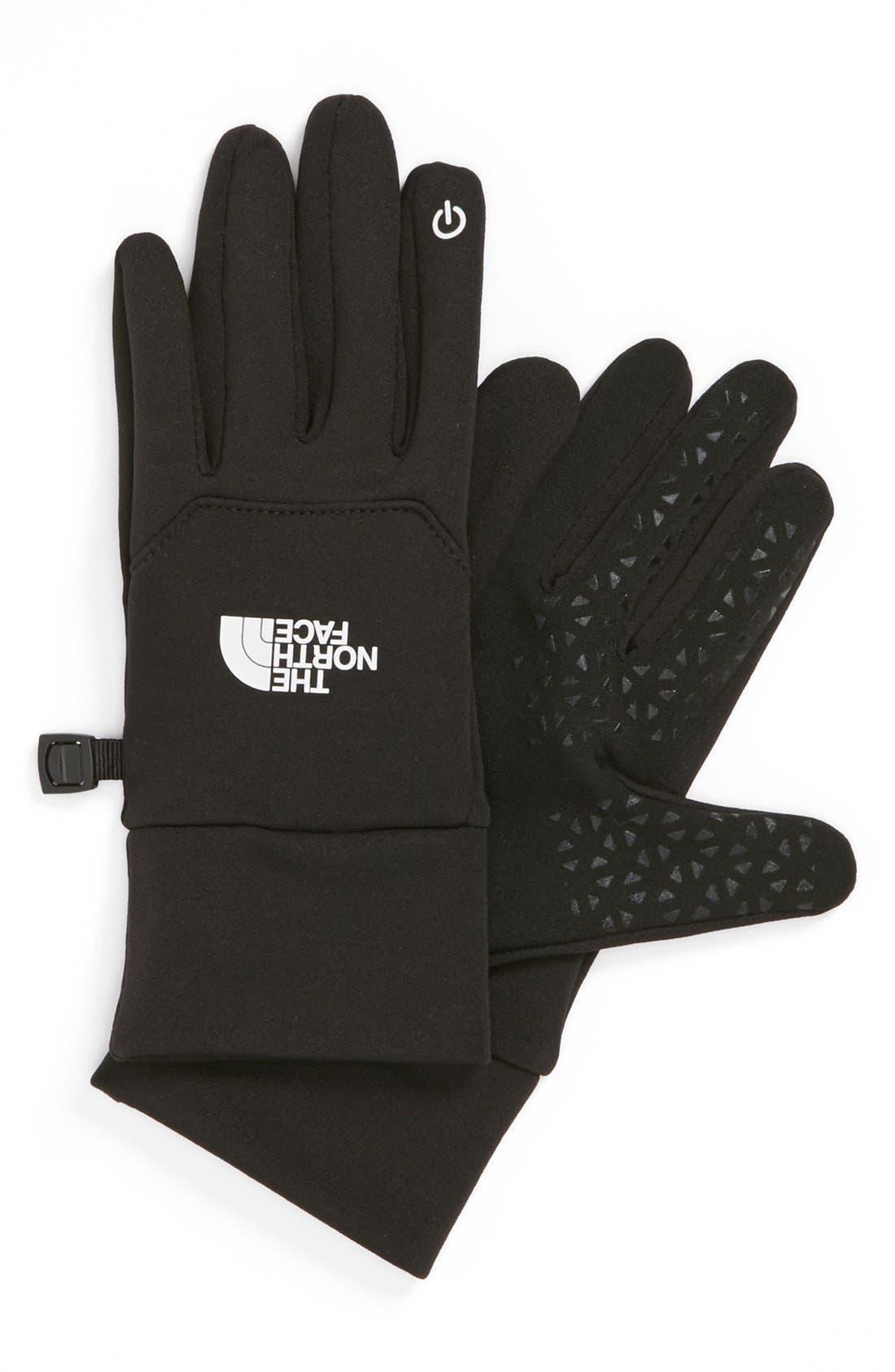 THE NORTH FACE, 'E-Tip' Glove, Main thumbnail 1, color, 001