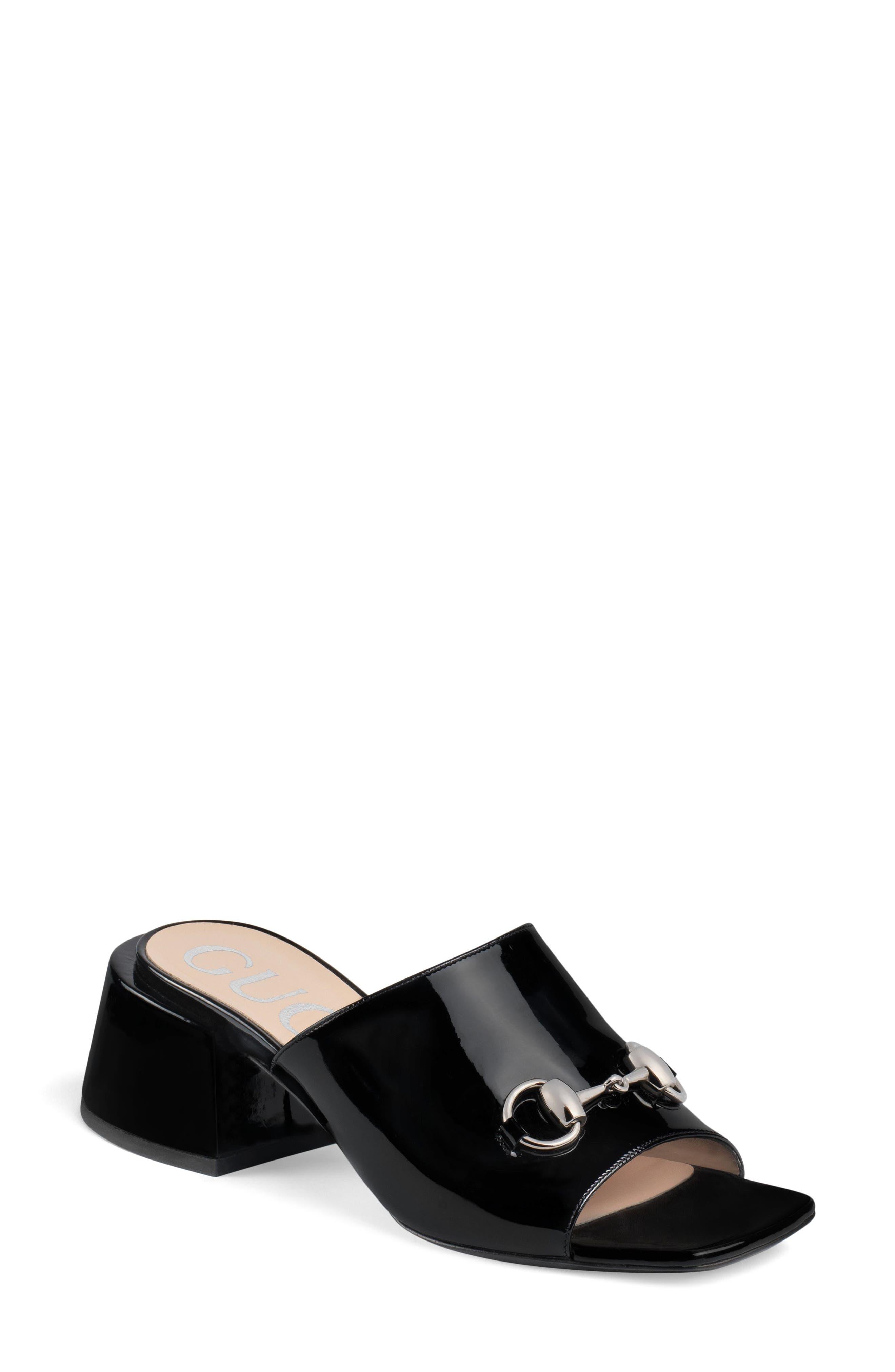 GUCCI, Lexi Slide Sandal, Main thumbnail 1, color, BLACK