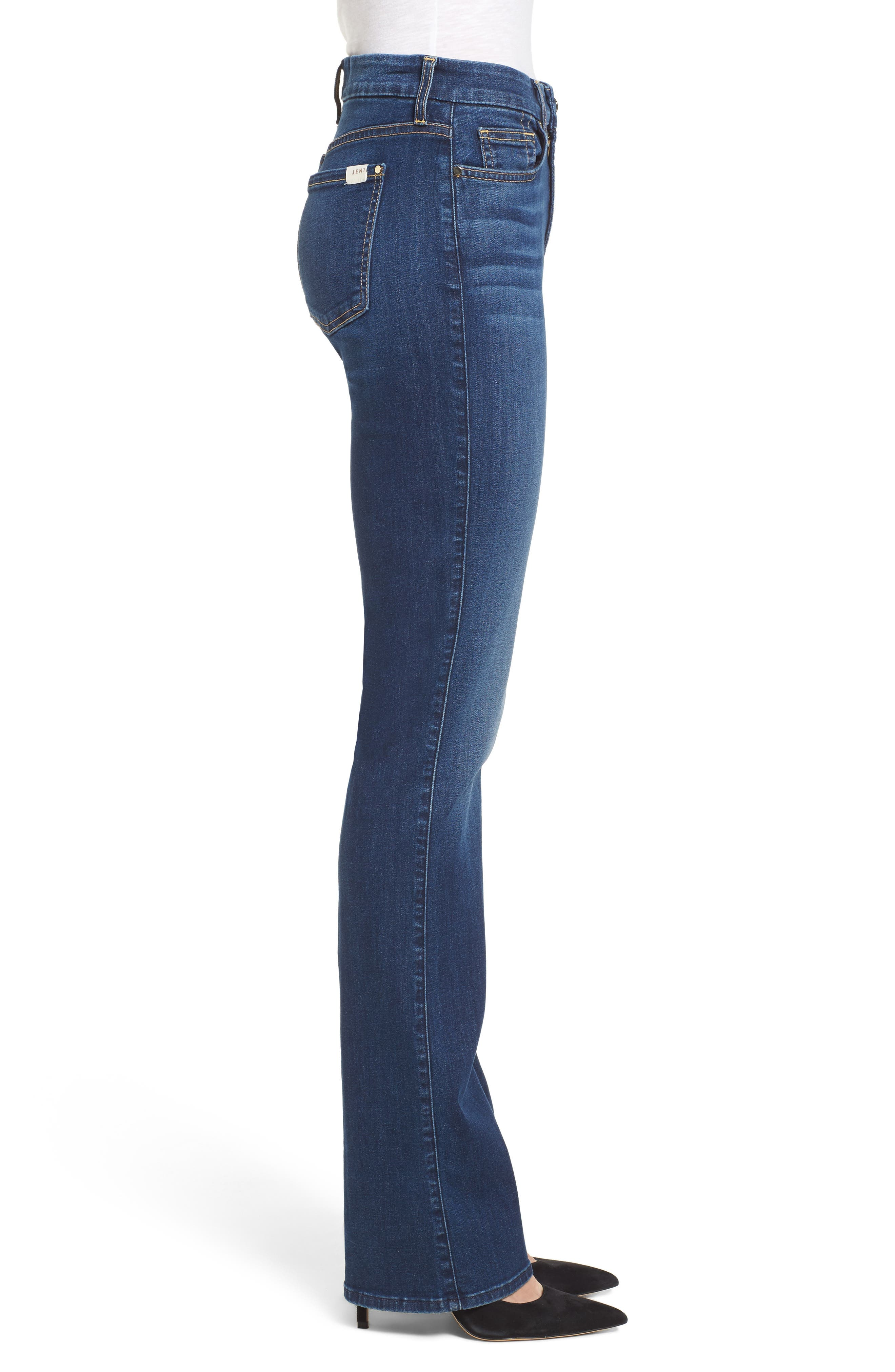 JEN7 BY 7 FOR ALL MANKIND, Slim Bootcut Jeans, Alternate thumbnail 3, color, RICHE TOUCH MEDIUM BLUE