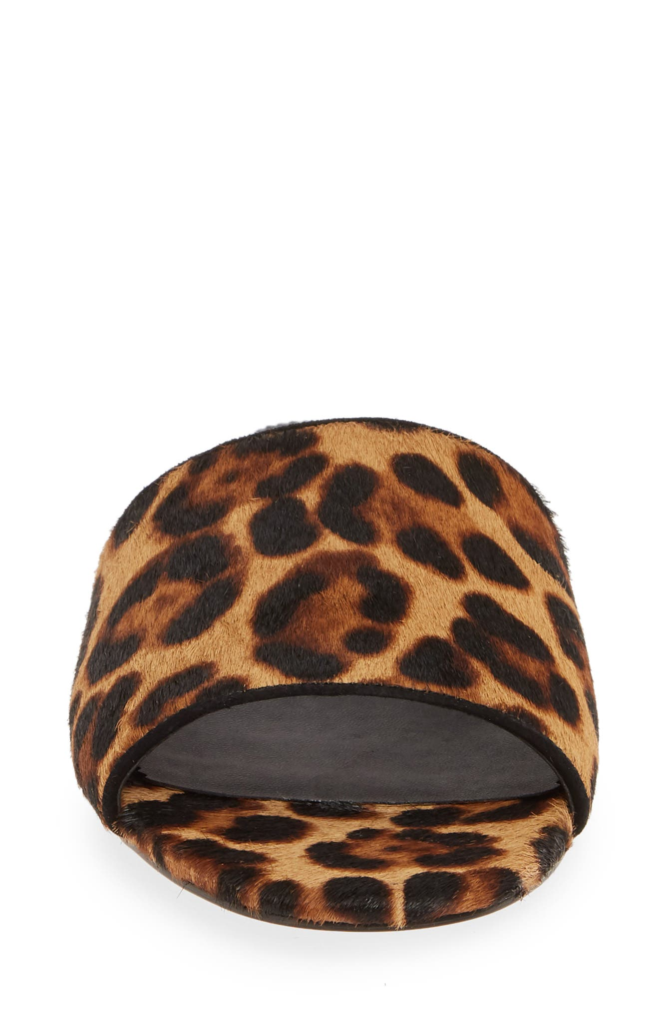 J.CREW, Cora Leopard Print Calf Hair Slide Sandal, Alternate thumbnail 4, color, LEOPARD PRINT CALF HAIR