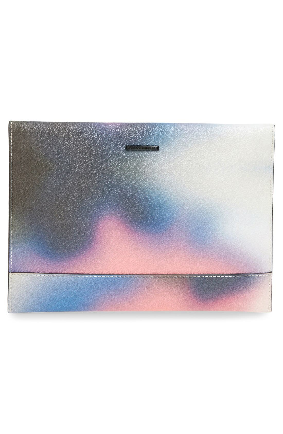 REBECCA MINKOFF, 'Leo' Envelope Clutch, Alternate thumbnail 5, color, 650