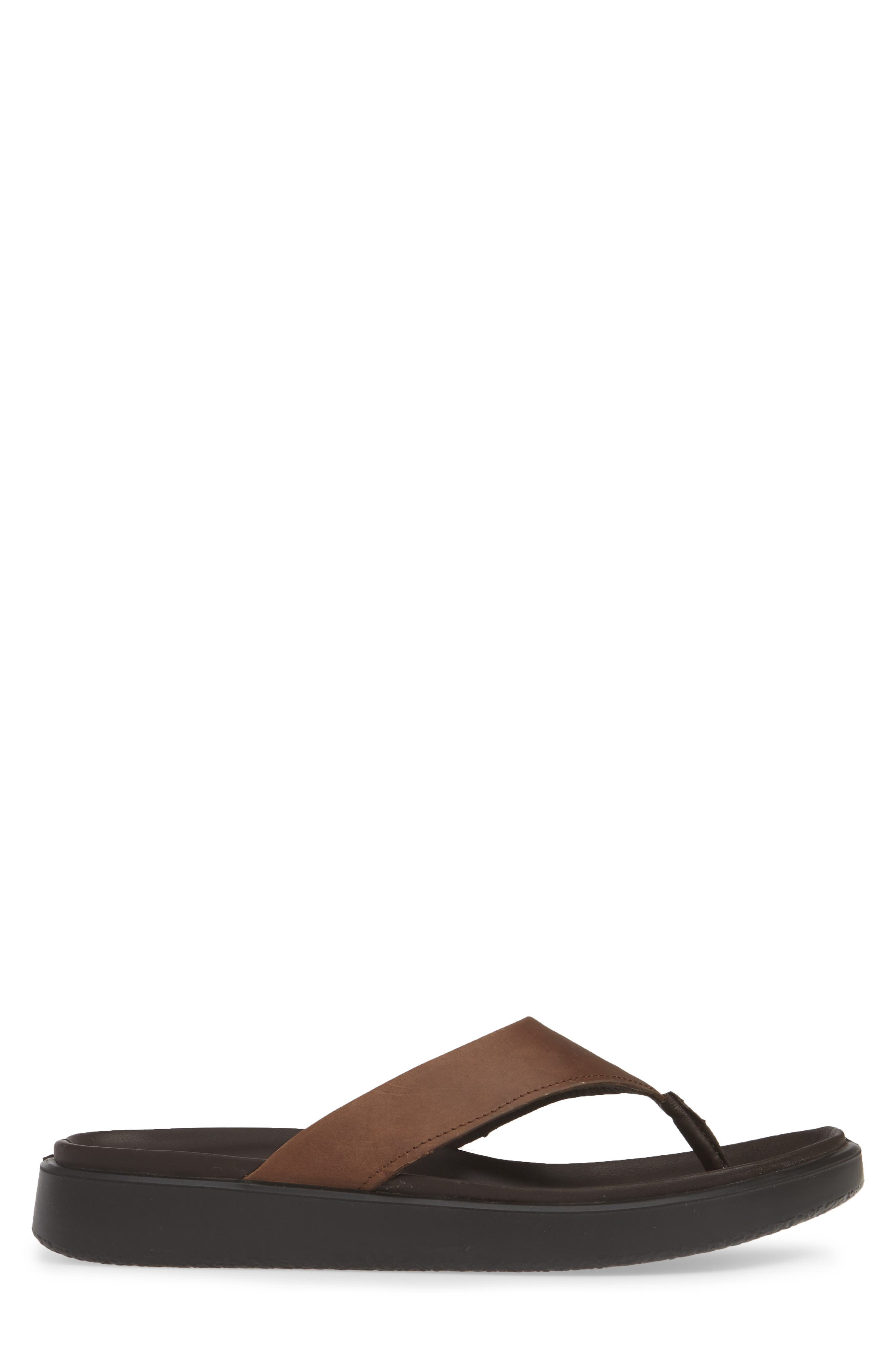 ECCO, Flowt LX Flip Flop, Alternate thumbnail 3, color, COCOA BROWN OILED NUBUCK