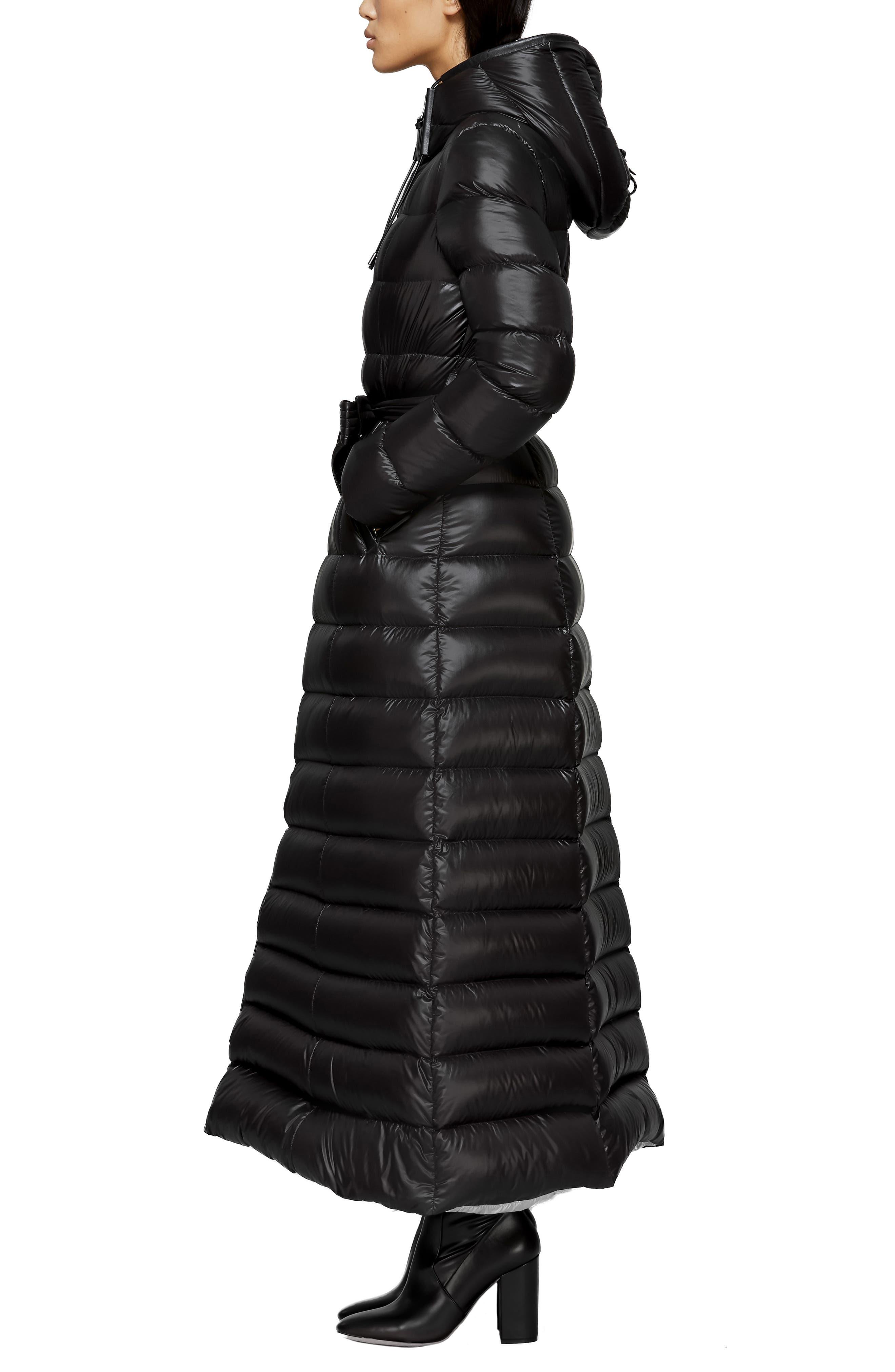 MACKAGE, Long Water Resistant Down Puffer Coat, Alternate thumbnail 3, color, BLACK
