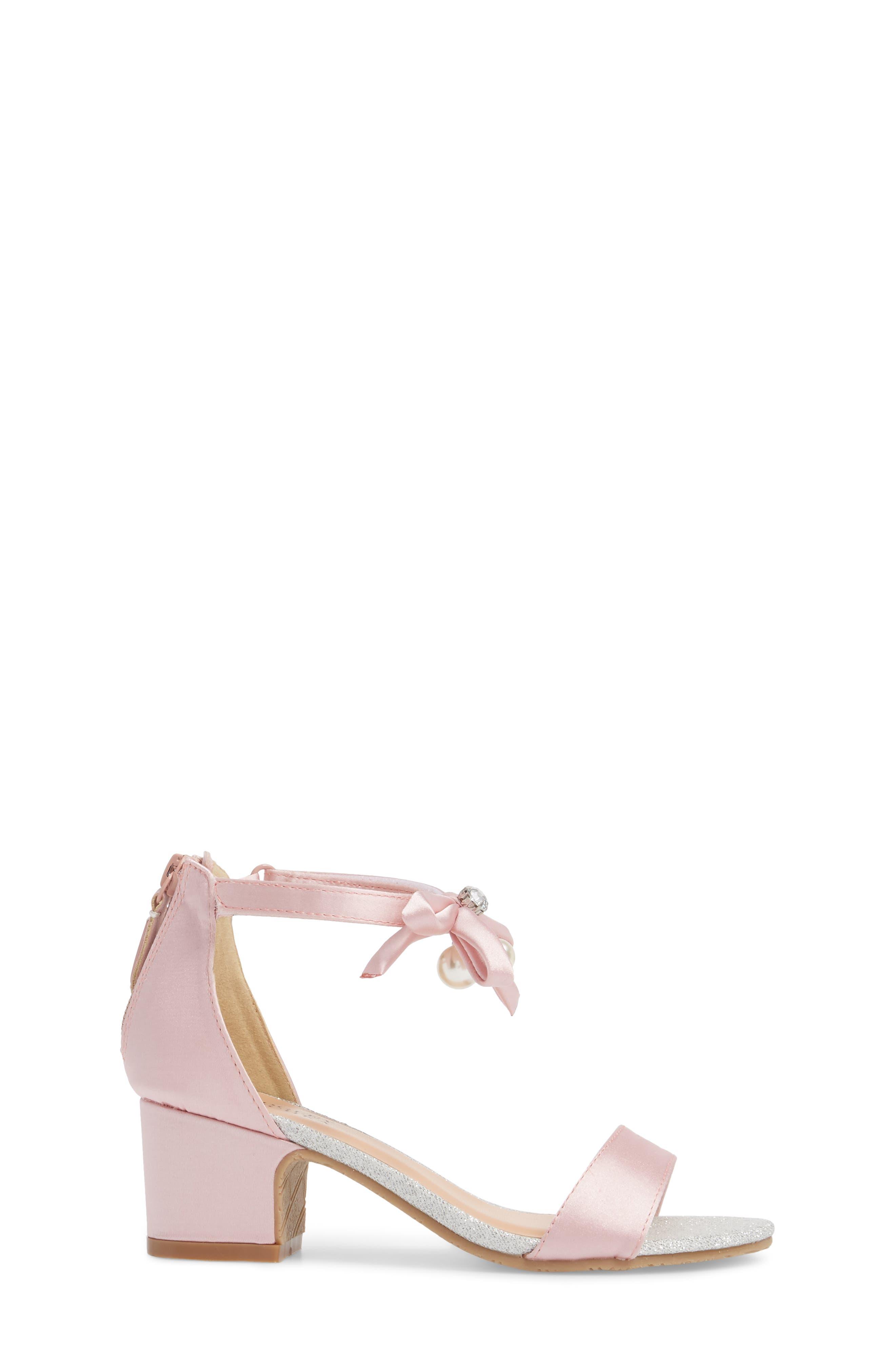 BADGLEY MISCHKA COLLECTION, Badgley Mischka Pernia Embellished Sandal, Alternate thumbnail 3, color, PINK/ SILVER
