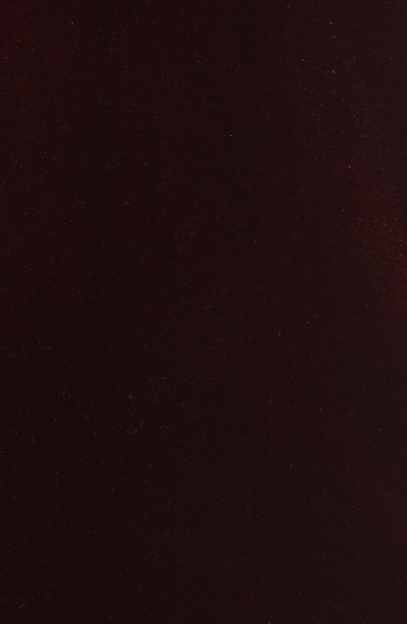 BARDOT, Raven Velvet Slipdress, Alternate thumbnail 5, color, 932