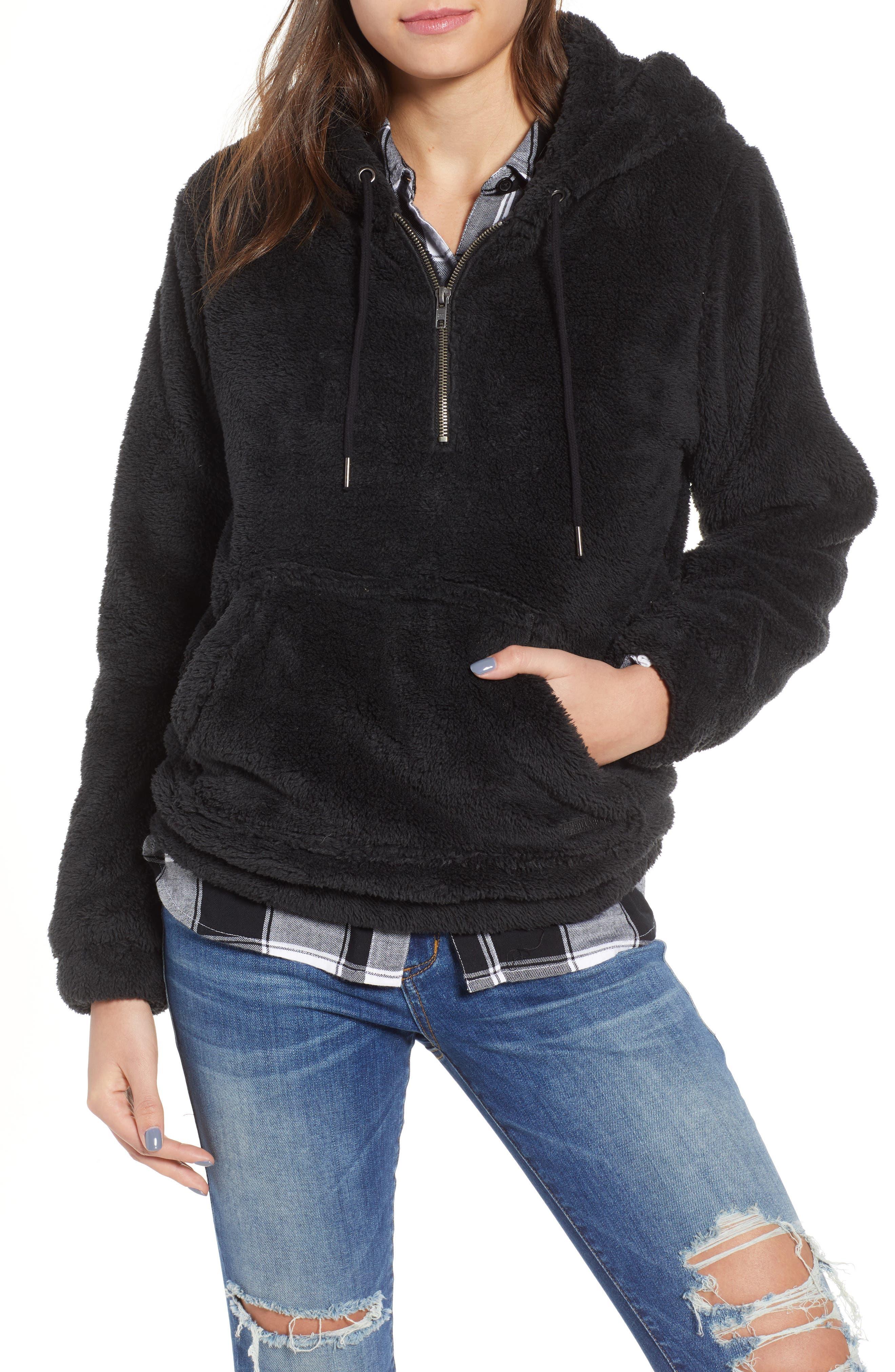 BILLABONG, Cozy For Keeps Fleece Pullover, Main thumbnail 1, color, 001