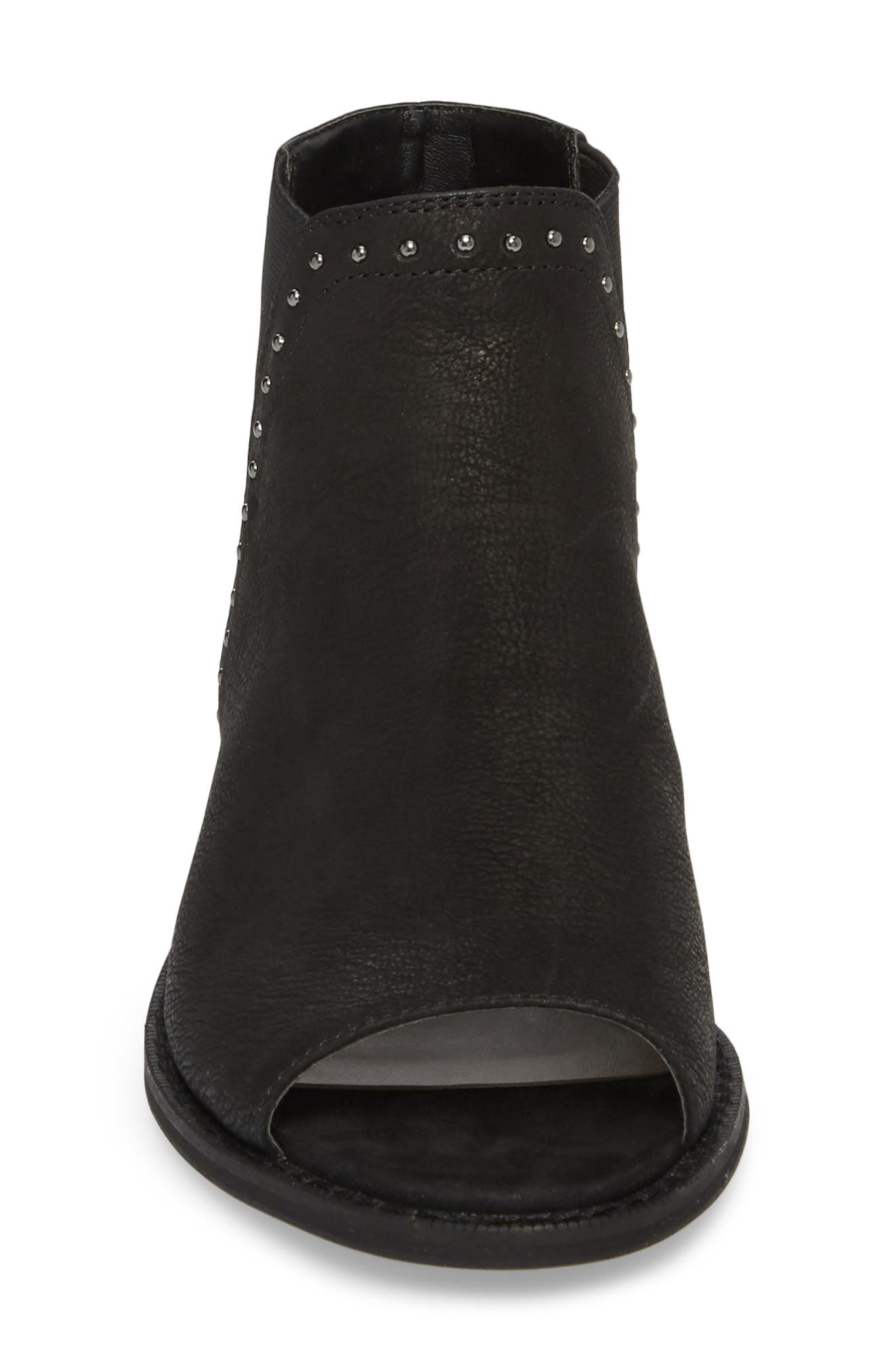 SOLE SOCIETY, Birty Bootie, Alternate thumbnail 4, color, BLACK