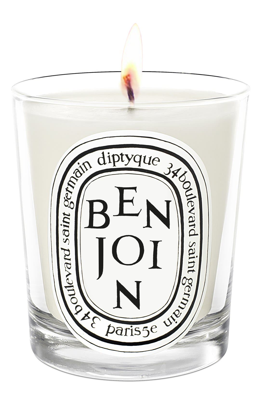 DIPTYQUE, Benjoin Scented Candle, Main thumbnail 1, color, NO COLOR