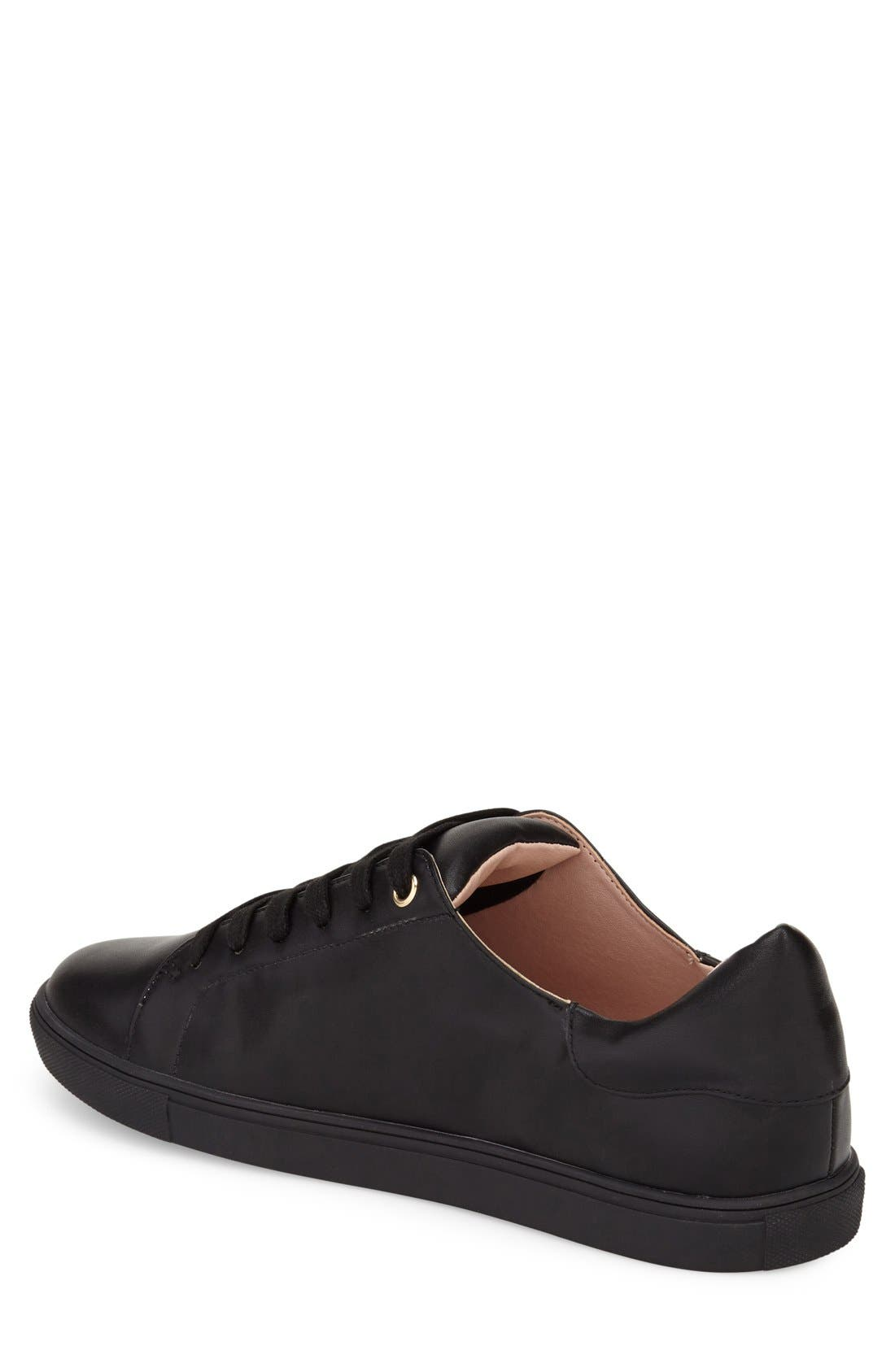 TOPSHOP, Catseye Sneaker, Alternate thumbnail 2, color, 001