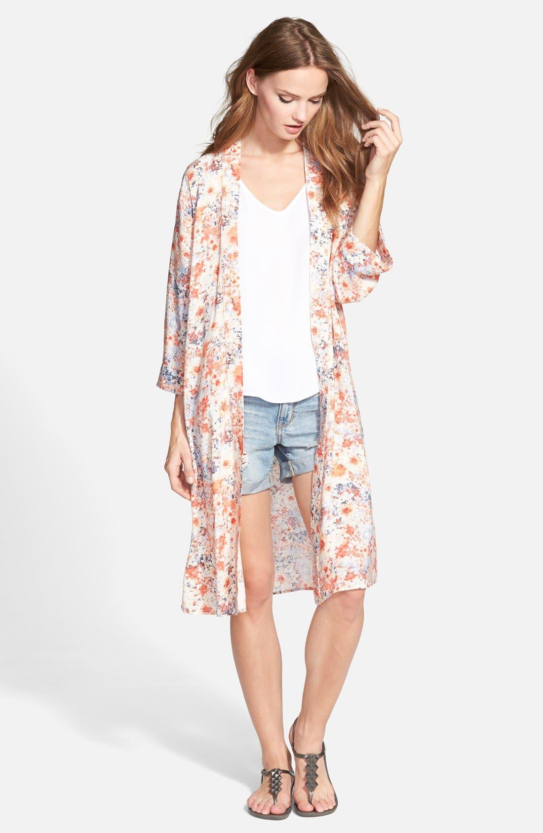 HAUTE SOCIETY Print Long Kimono, Main, color, 650