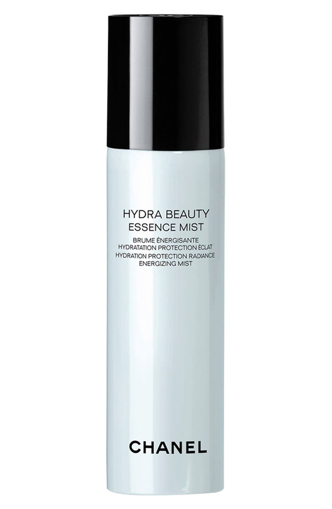 CHANEL HYDRA BEAUTY ESSENCE MIST<br />Hydration Protection Radiance Energizing Mist, Main, color, NO COLOR