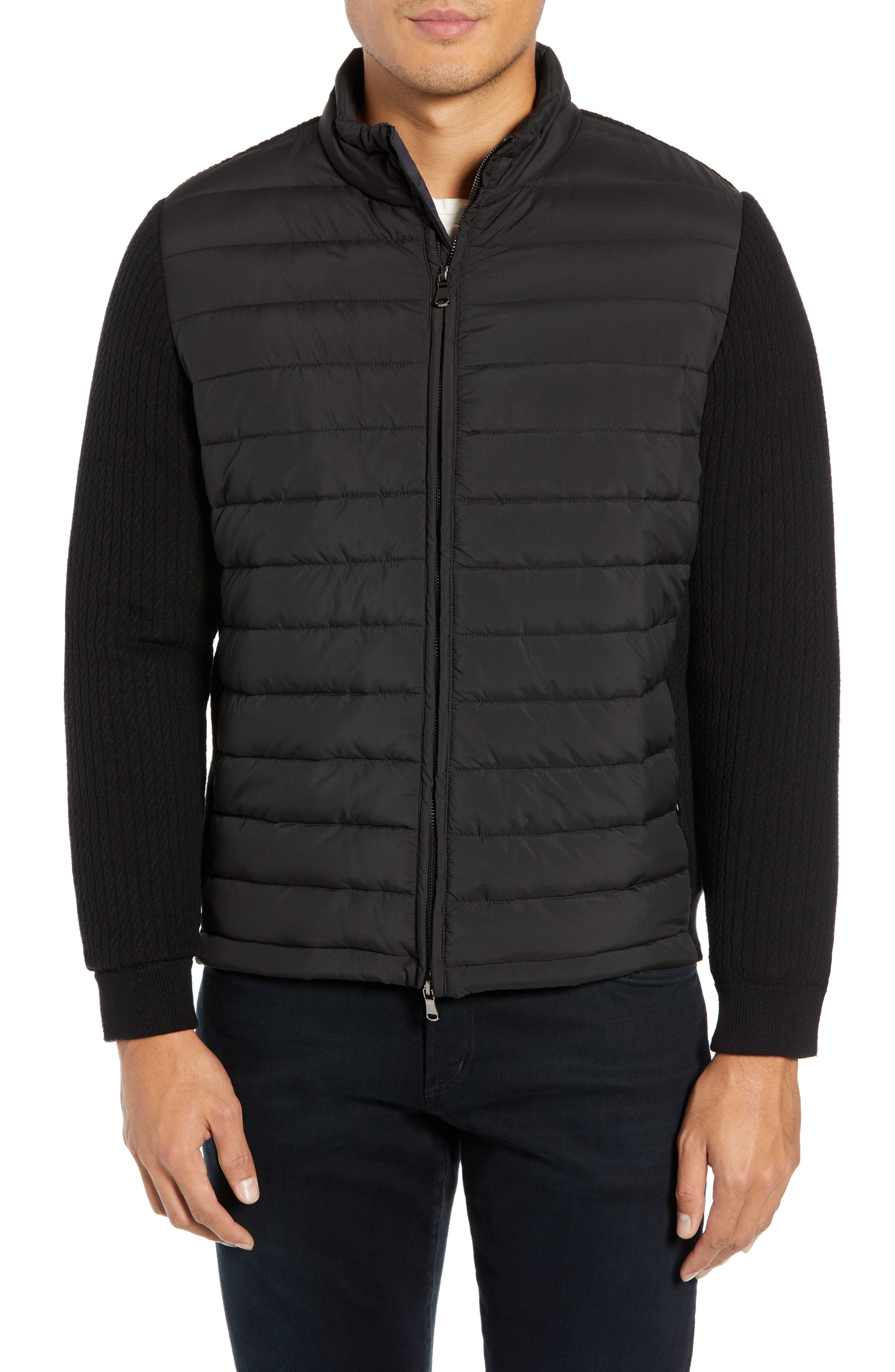 ZACHARY PRELL, Federal Jacket, Main thumbnail 1, color, BLACK