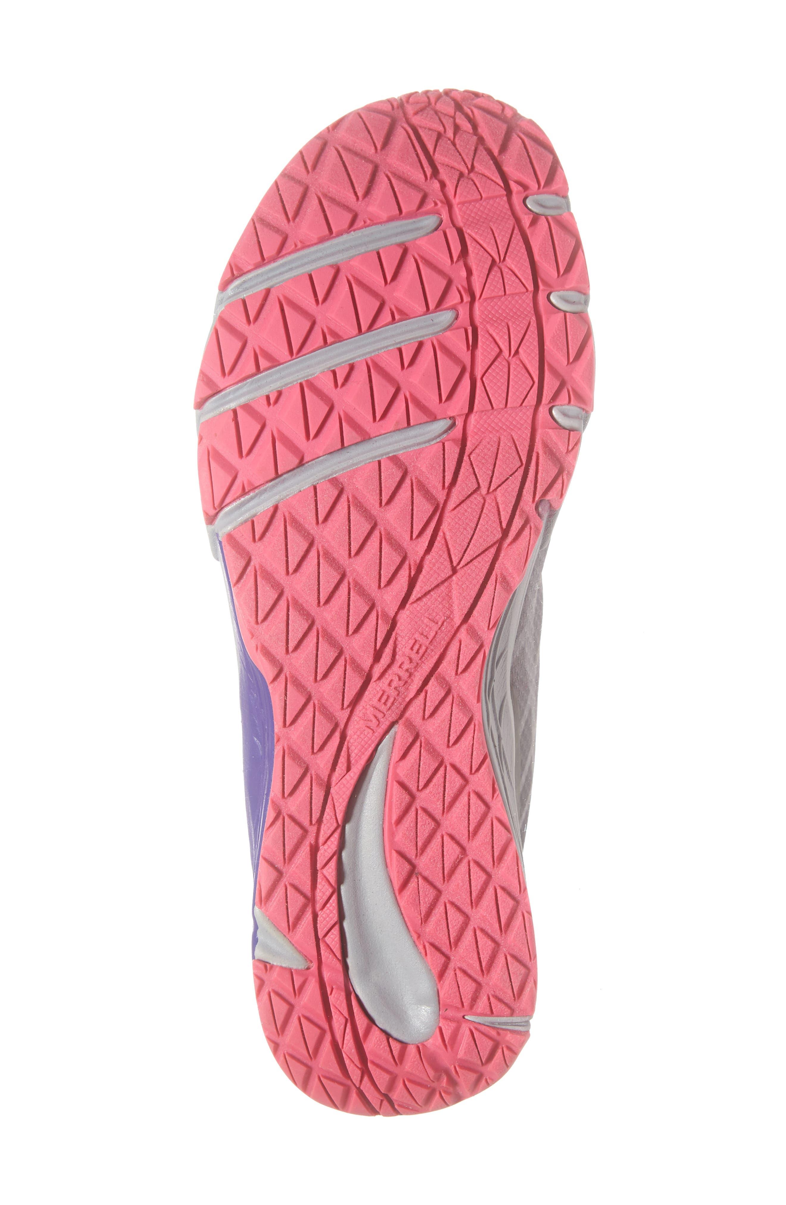 MERRELL, Bare Access Sneaker, Alternate thumbnail 6, color, GREY/ MULTI SYNTHETIC