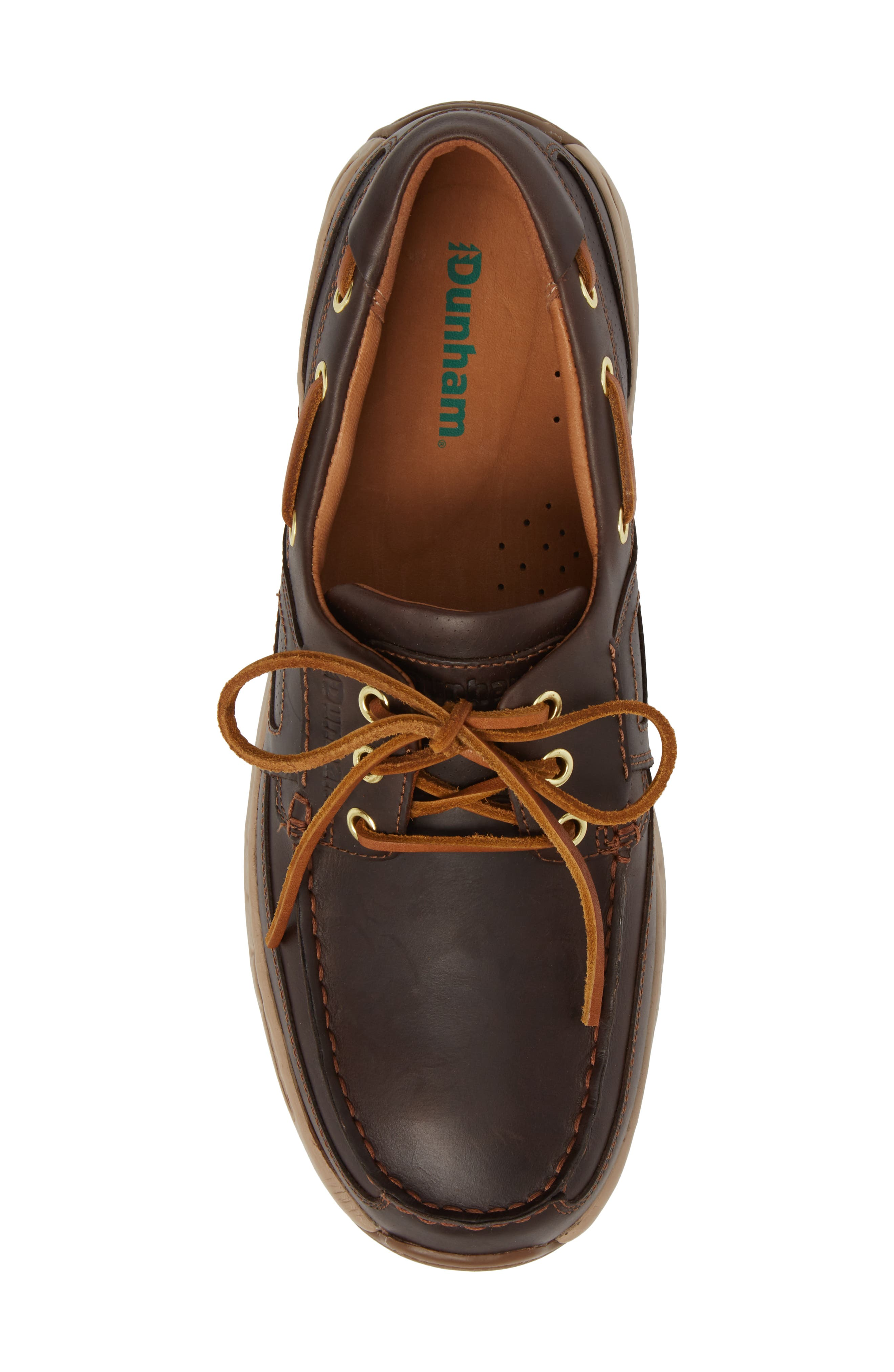 DUNHAM, LTD Water Resistant Boat Shoe, Alternate thumbnail 5, color, TAN LEATHER