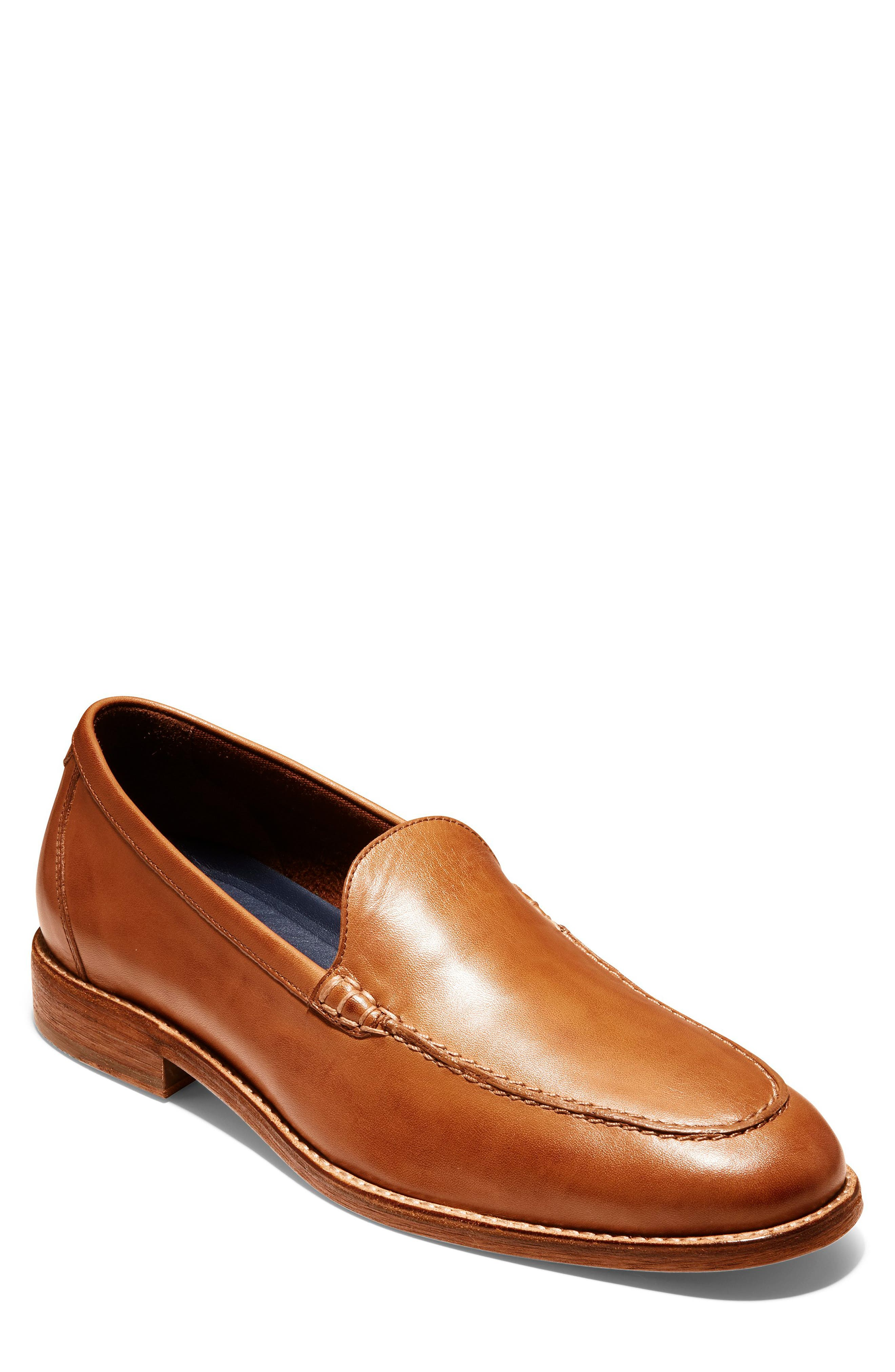 COLE HAAN Feathercraft Grand Venetian Loafer, Main, color, BRITISH TAN LEATHER