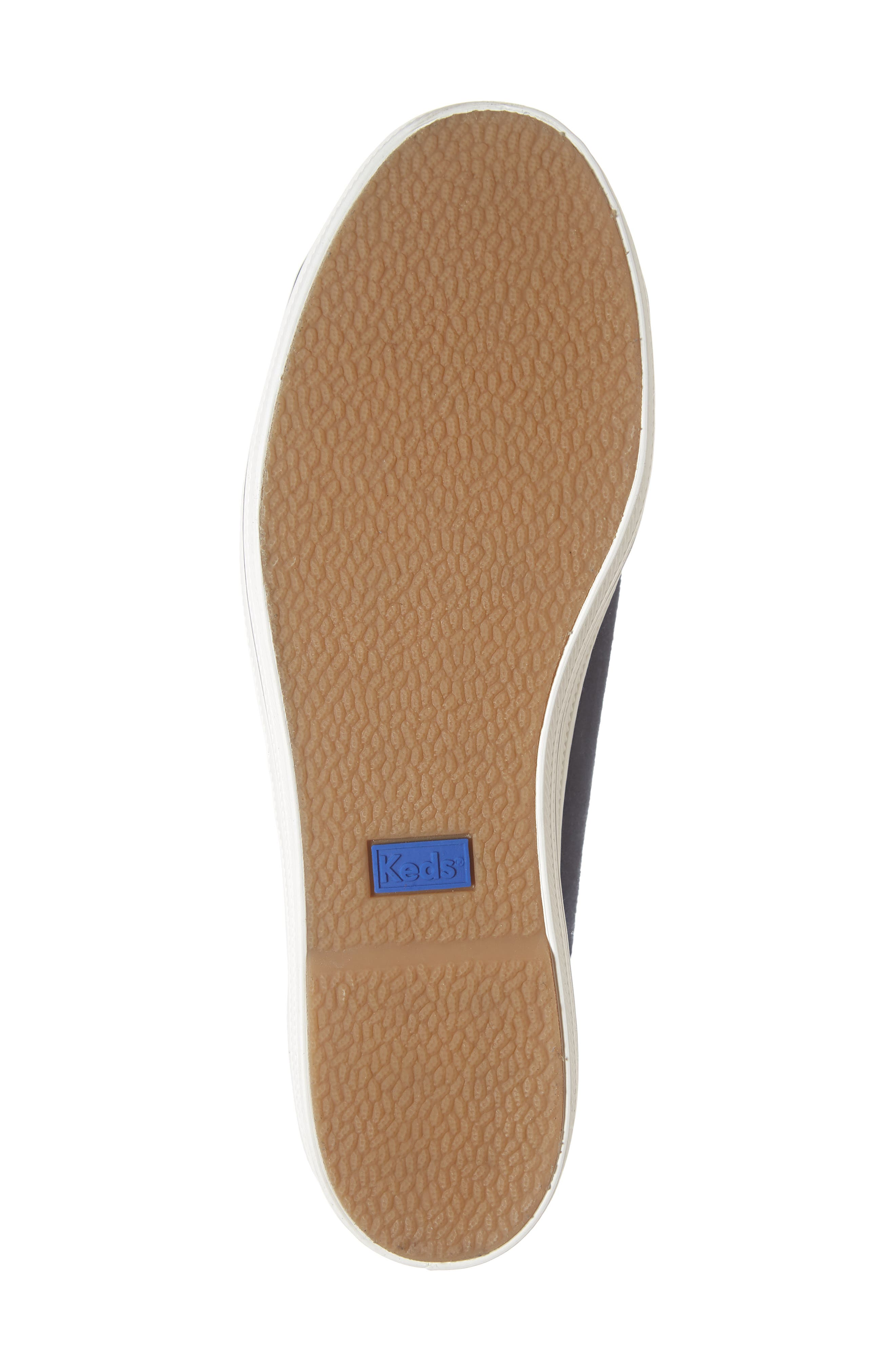 KEDS<SUP>®</SUP> FOR KATE SPADE NEW YORK, Keds<sup>®</sup> x kate spade new york triple kicks platform sneaker, Alternate thumbnail 6, color, NAVY SUEDE