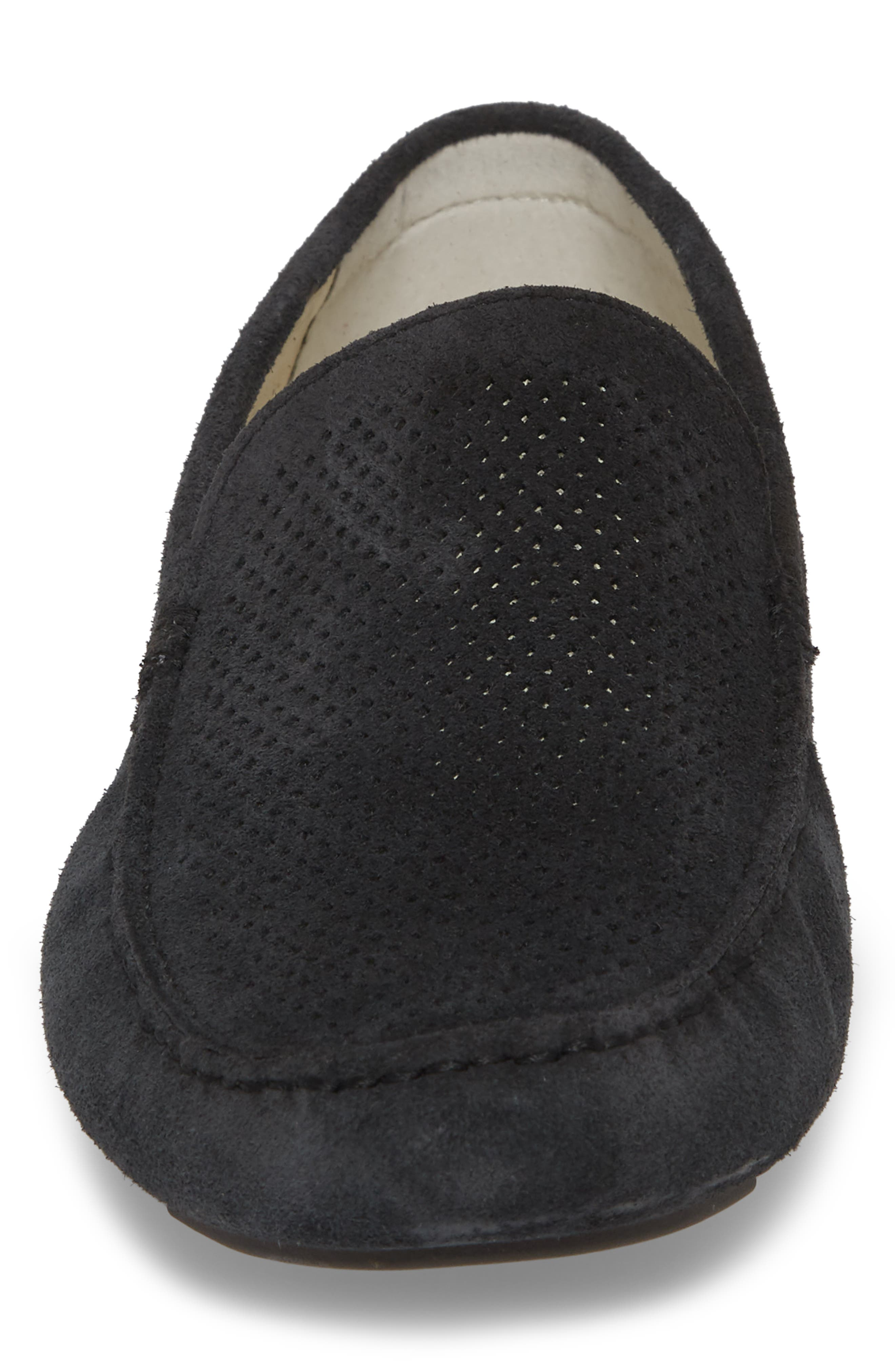 THE RAIL, Scottsdale Perforated Driving Moccasin, Alternate thumbnail 4, color, 001