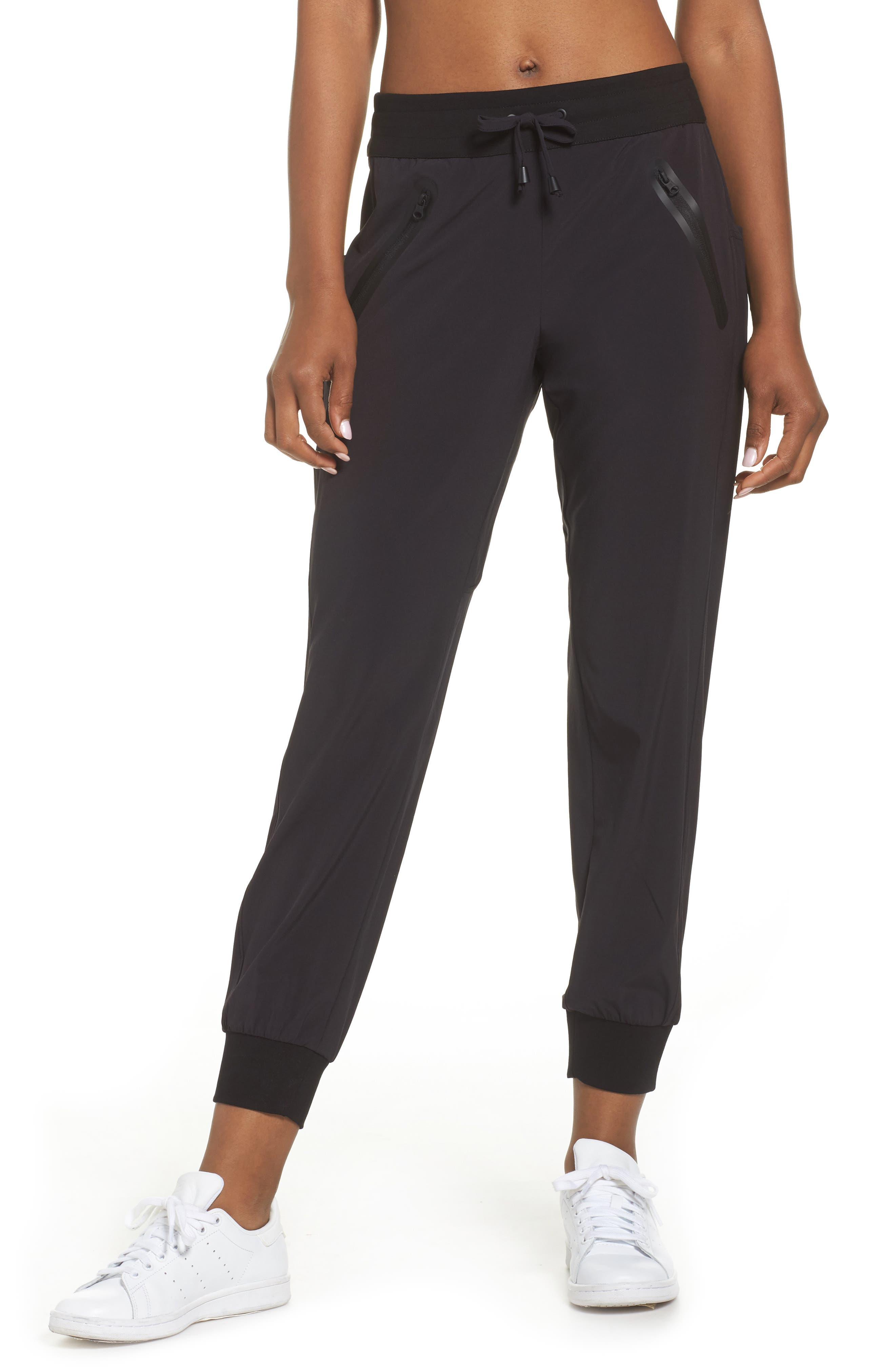 BLANC NOIR Getaway Jogger Pants, Main, color, BLACK