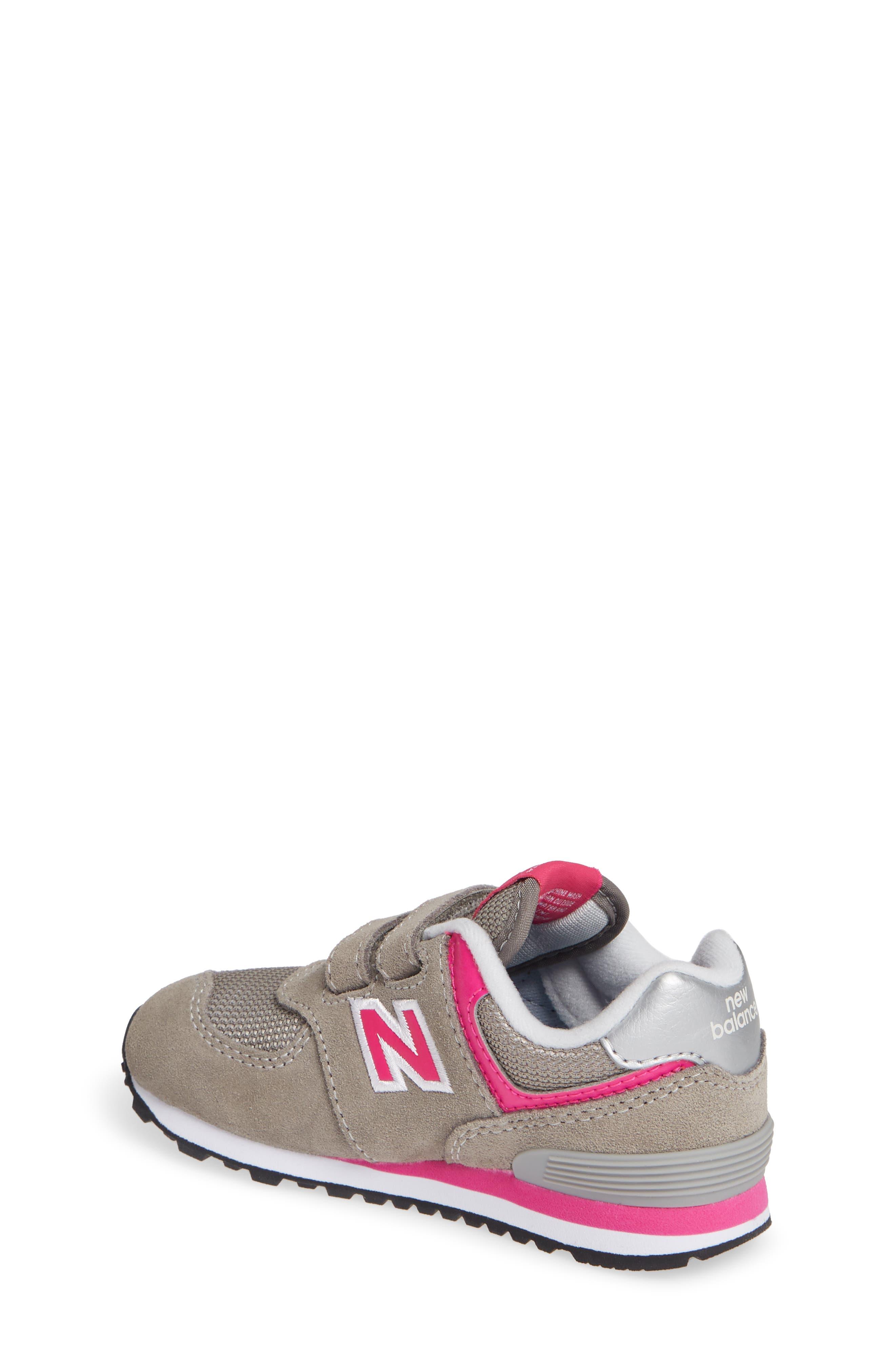 NEW BALANCE, '574 Core' Sneaker, Alternate thumbnail 2, color, GREY/ PINK